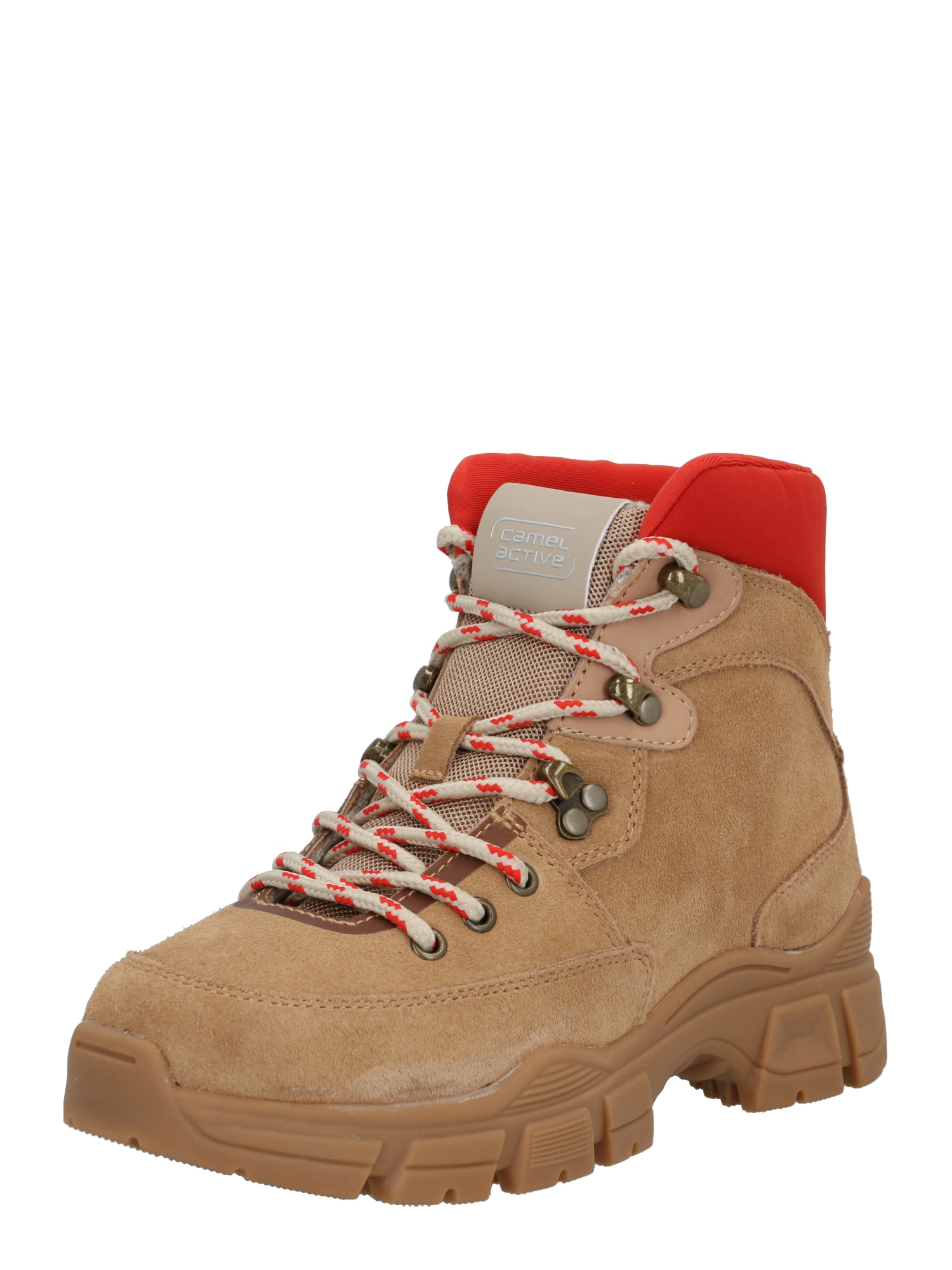 CAMEL ACTIVE Suvarstomieji kulkšnis dengiantys batai ruda / raudona