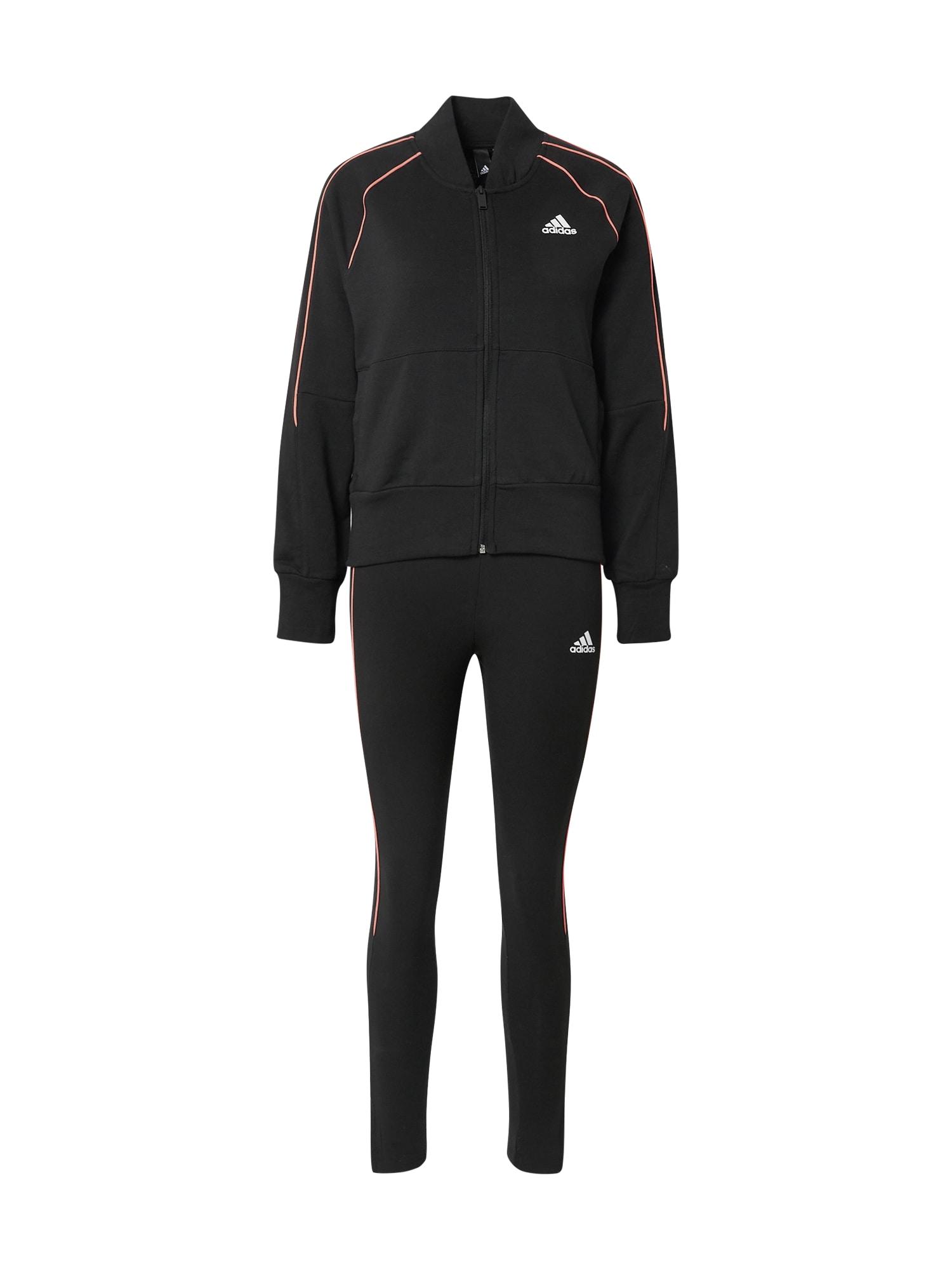 ADIDAS PERFORMANCE Treniruočių kostiumas balta / šviesiai raudona / juoda
