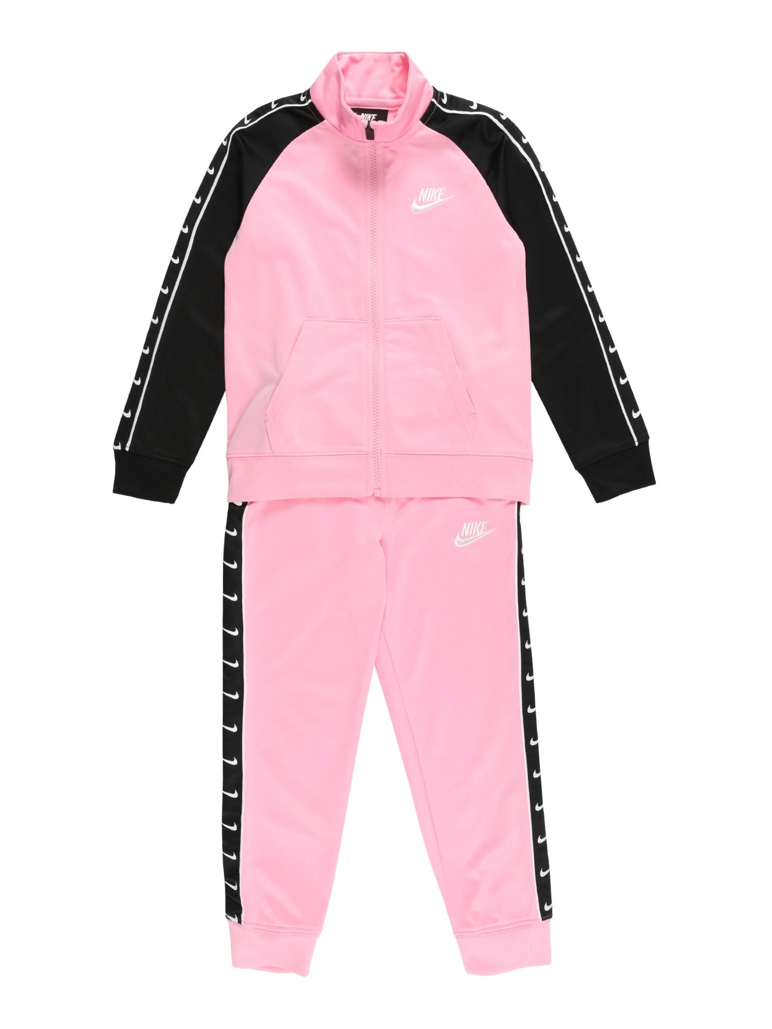 Nike Sportswear Treningas rožinė / juoda / balta