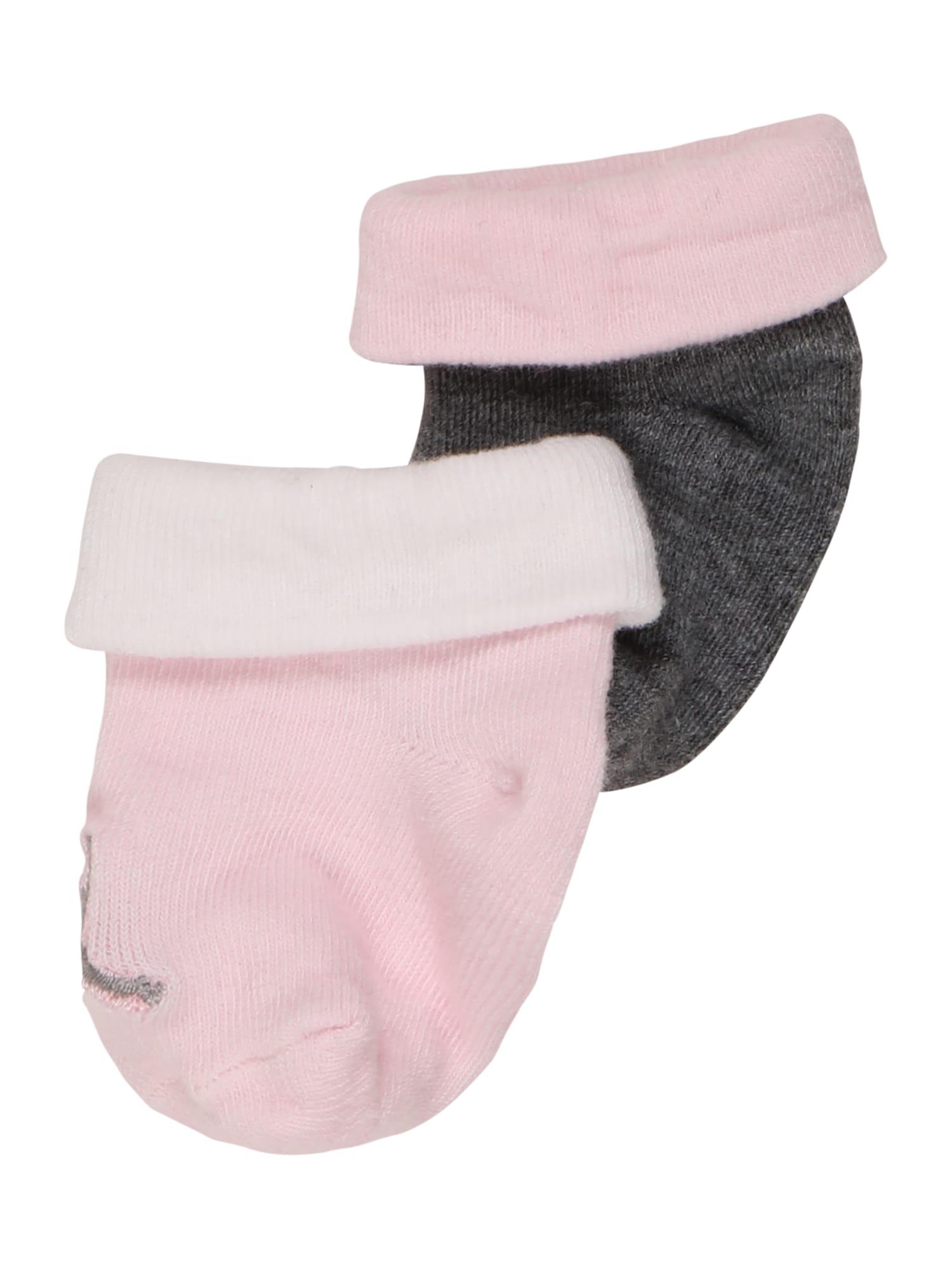 Jordan Kojinės ryškiai rožinė spalva / tamsiai pilka / balta