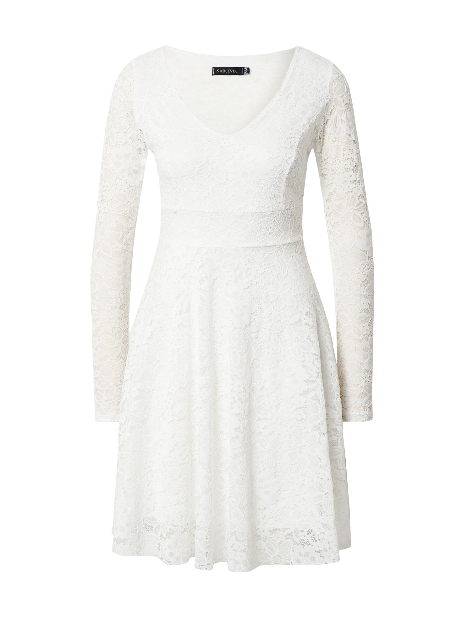 Sublevel Kokteilinė suknelė balta