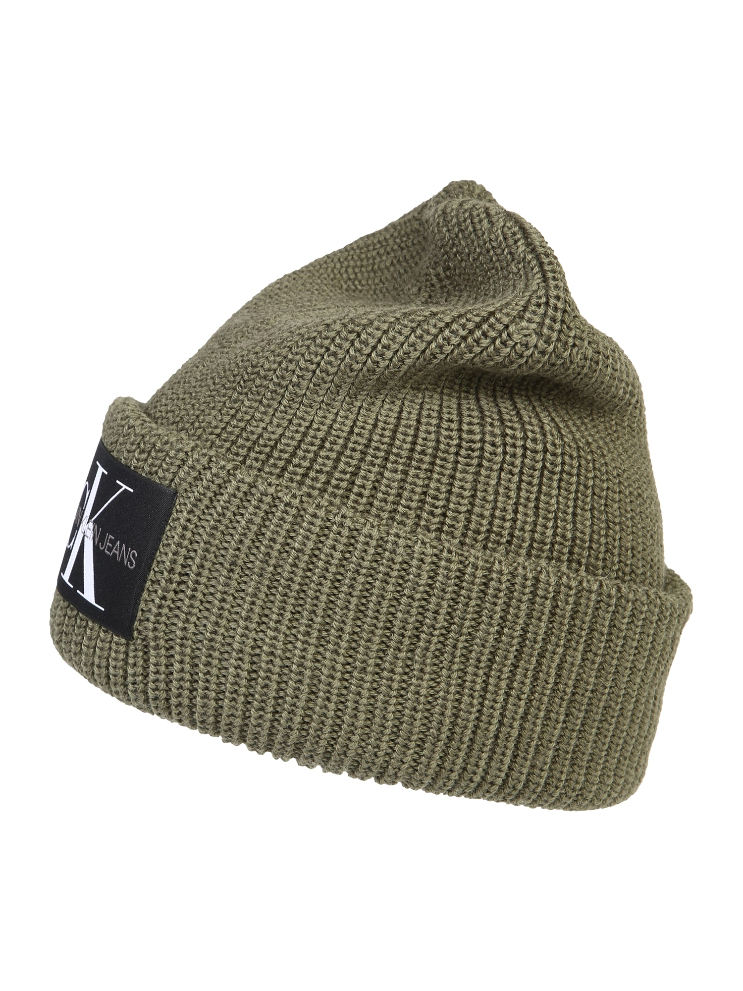 Calvin Klein Jeans Megzta kepurė alyvuogių spalva