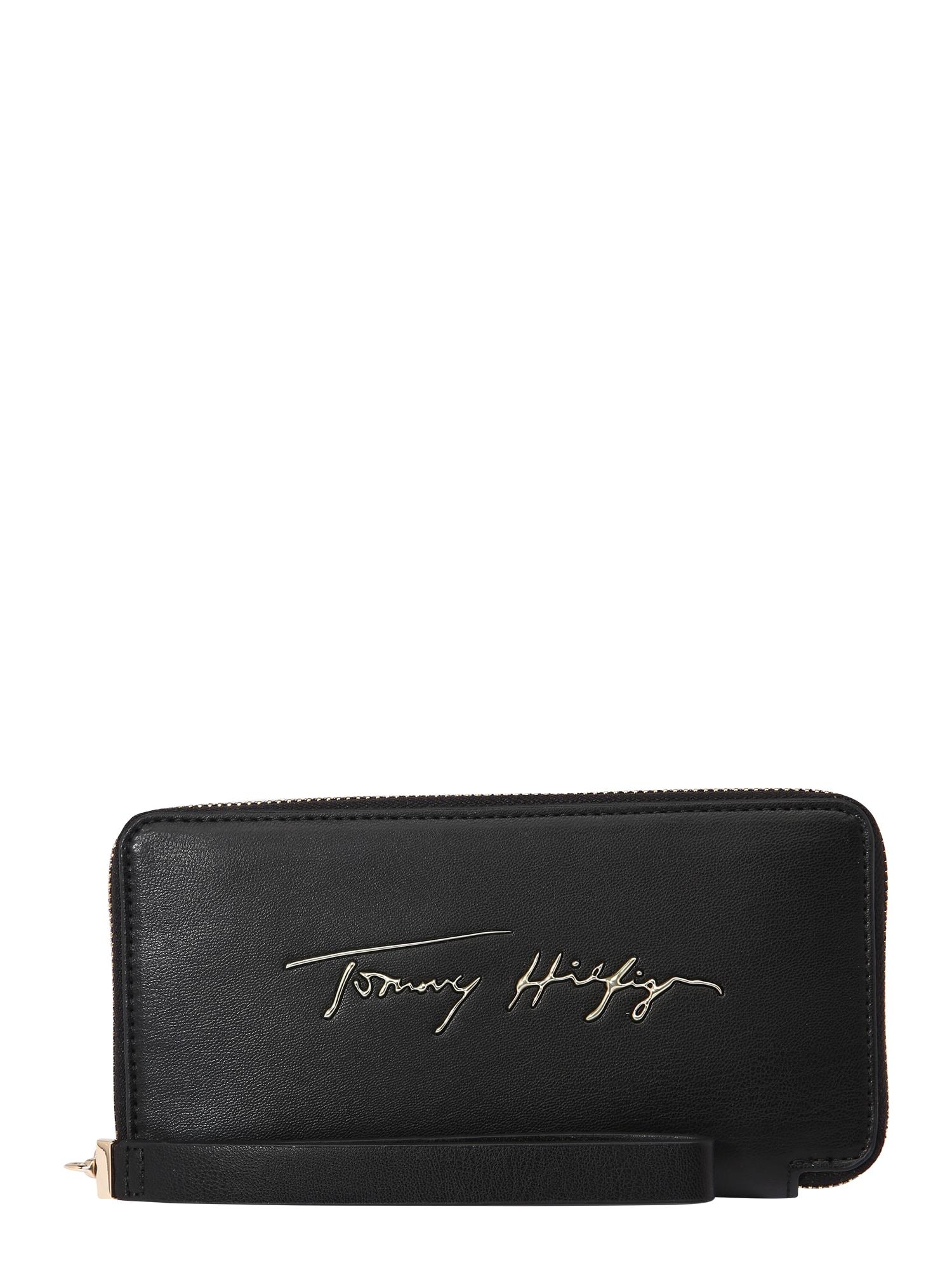 TOMMY HILFIGER Peněženka  černá / zlatá
