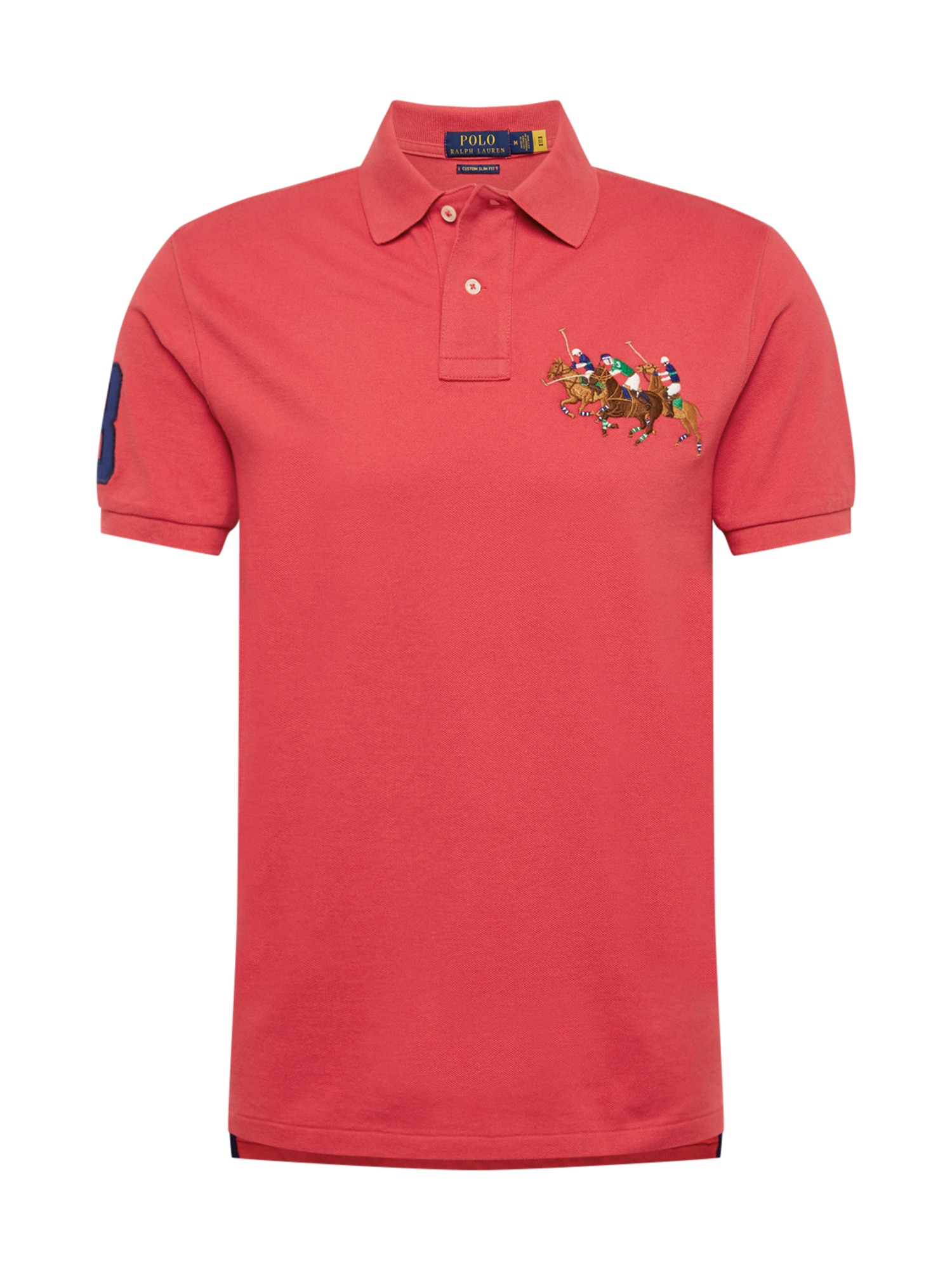 POLO RALPH LAUREN Marškinėliai raudona / mišrios spalvos