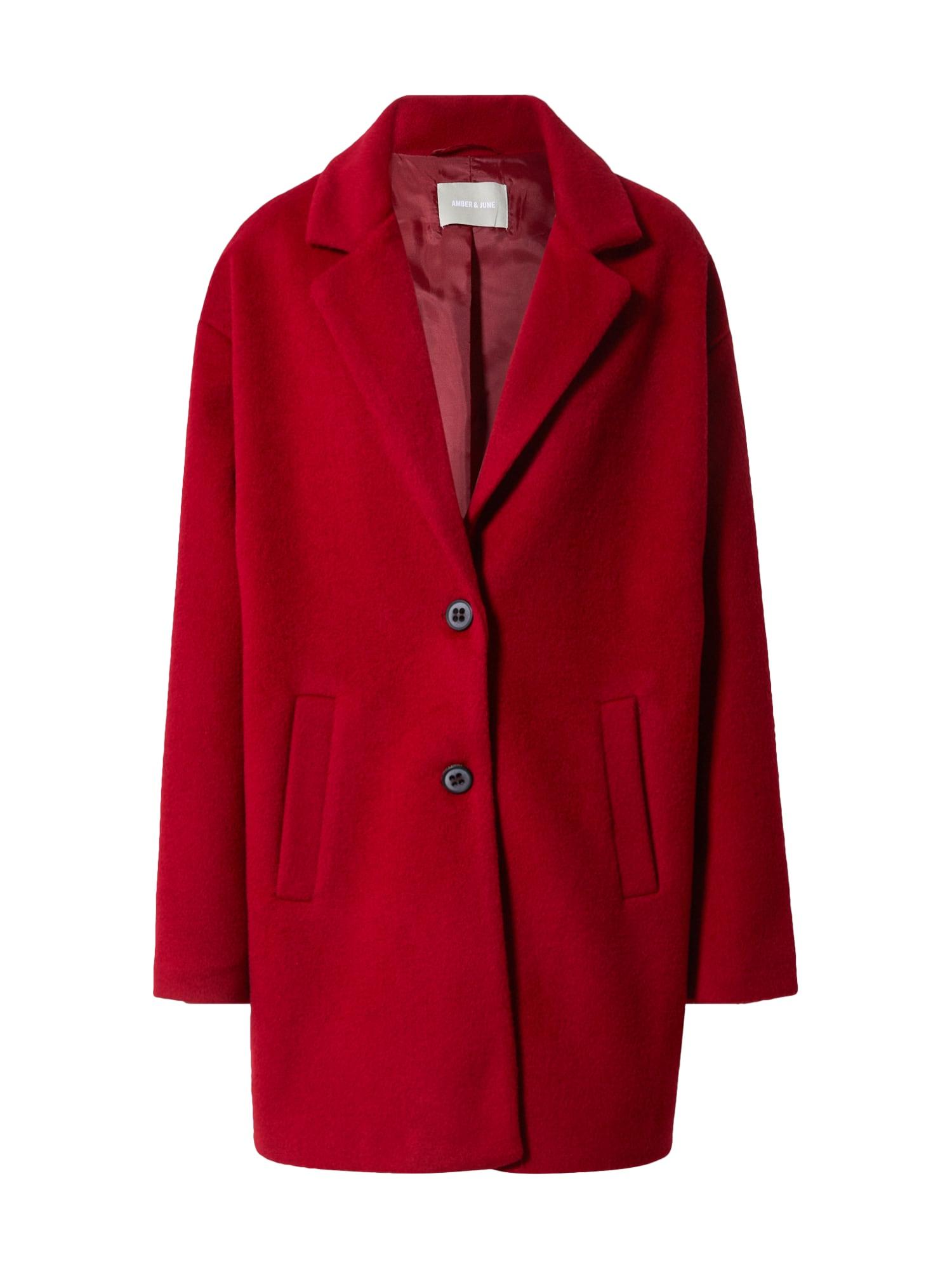Amber & June Demisezoninis paltas raudona