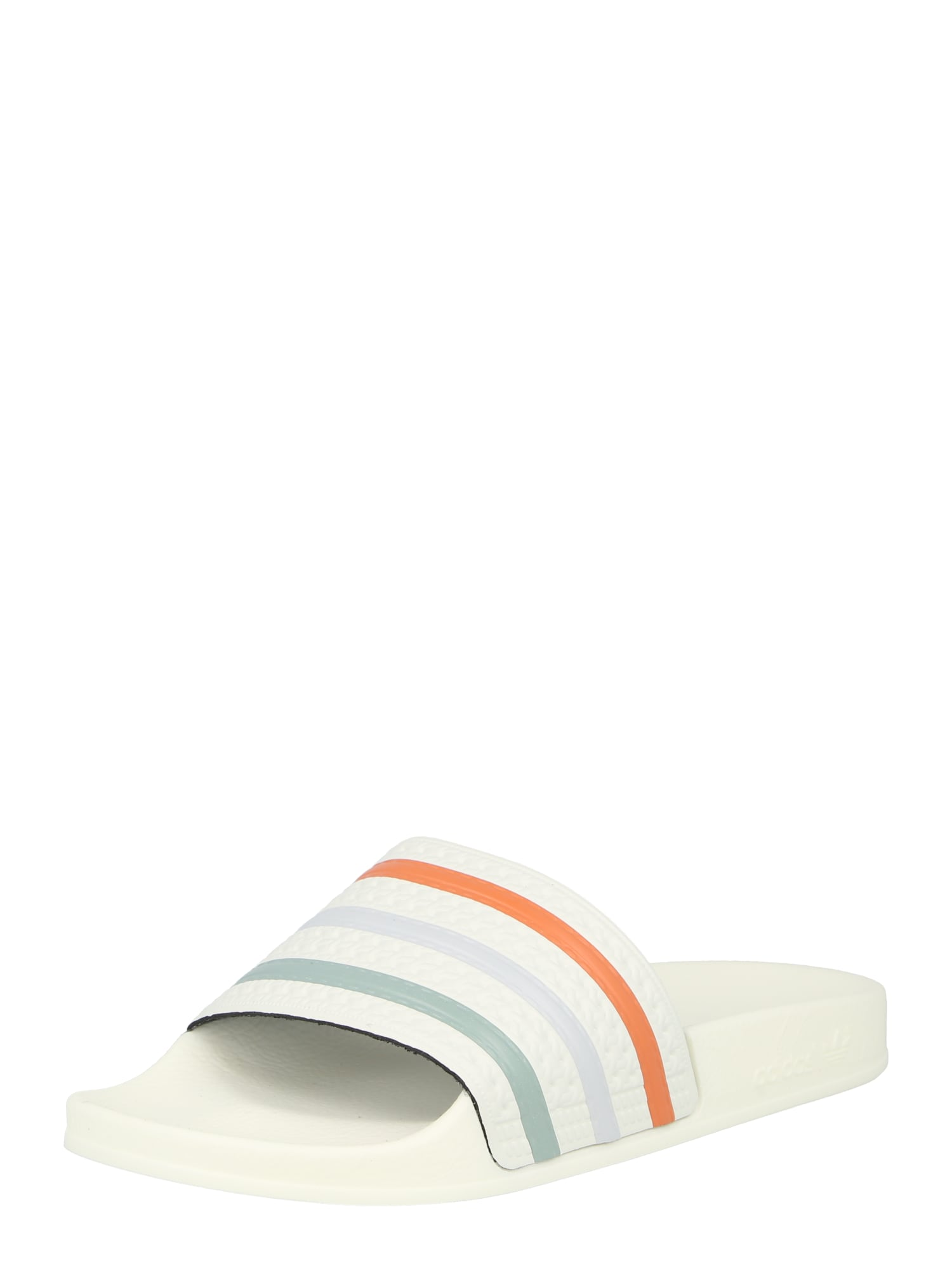 ADIDAS ORIGINALS Pantofle 'ADILETTE TOWEL'  bílá / oranžová / pastelově zelená / světlemodrá