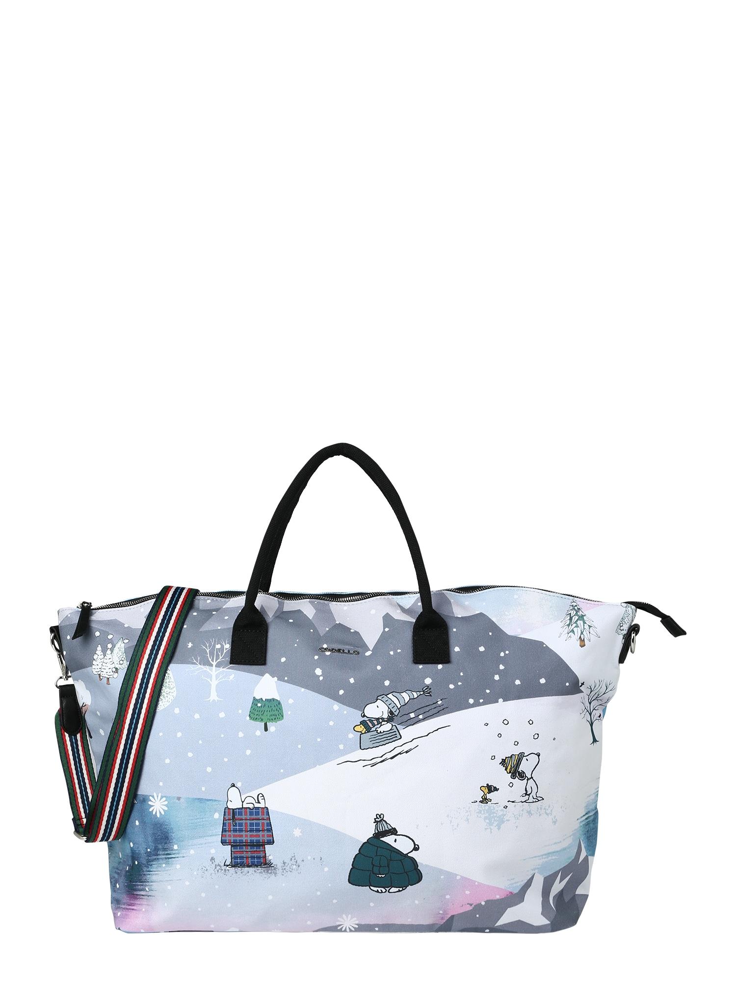 """CODELLO """"Weekender"""" krepšys 'PEANUTS' pilka / purpurinė / šviesiai mėlyna / balta"""