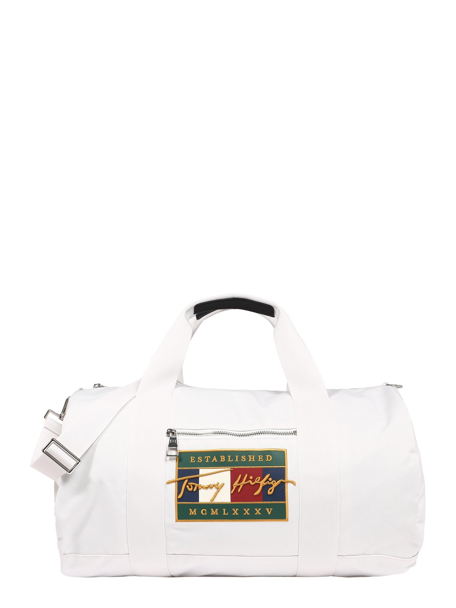 "TOMMY HILFIGER ""Weekender"" krepšys šviesiai žalia / tamsiai mėlyna / raudona / balkšva"