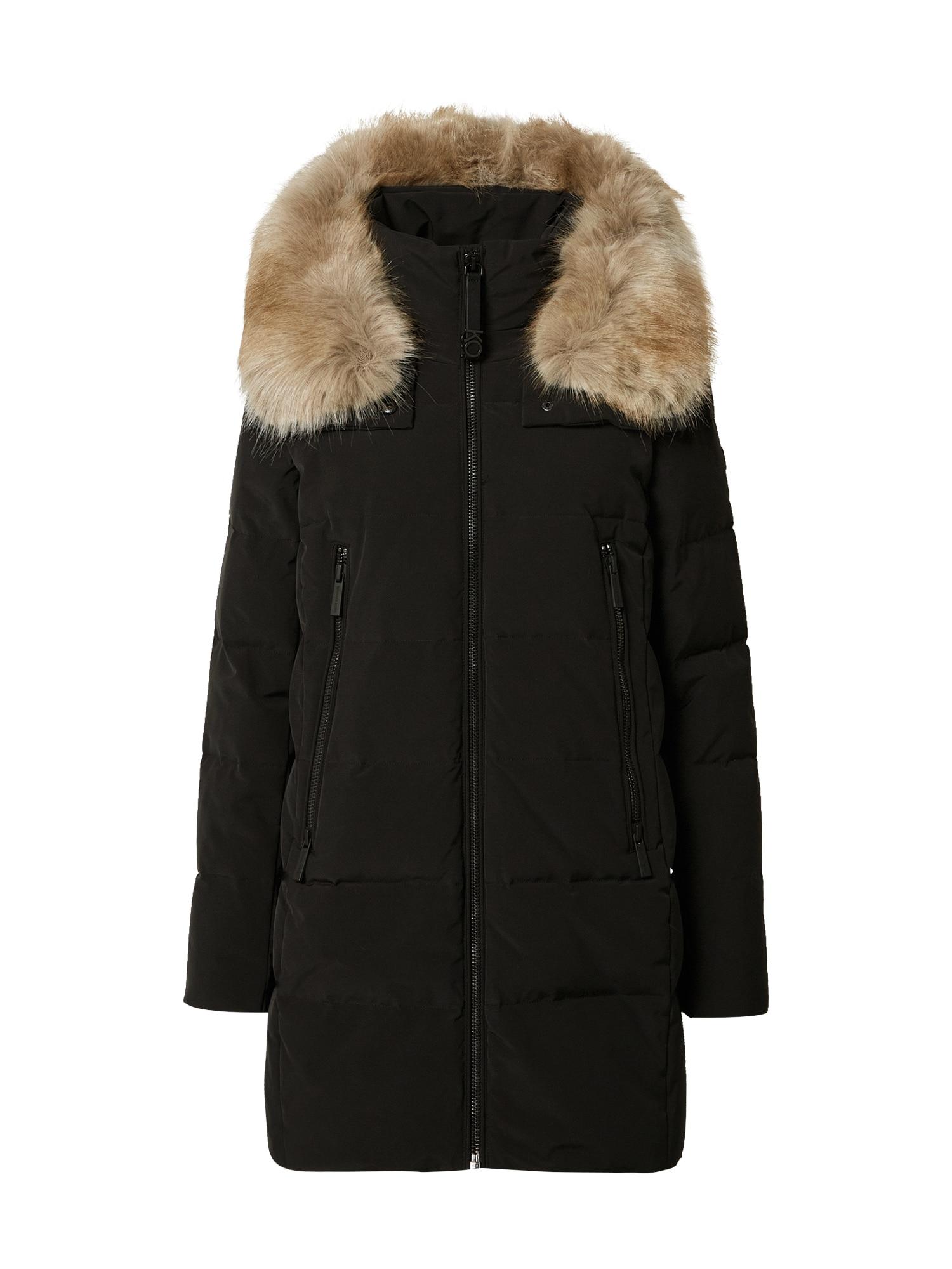 MICHAEL Michael Kors Žieminis paltas juoda / smėlio