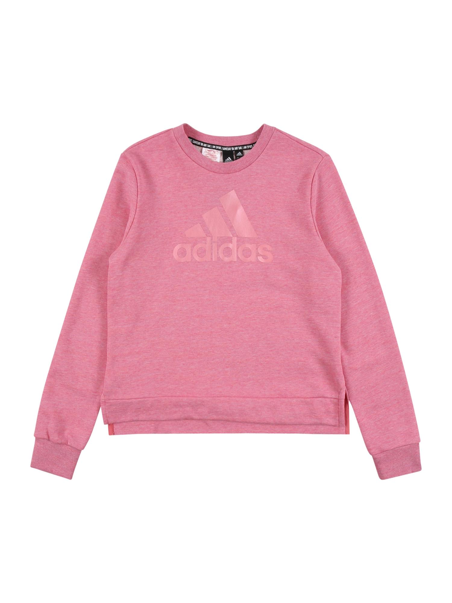 ADIDAS PERFORMANCE Sportinio tipo megztinis 'BOS' balta / rožinė