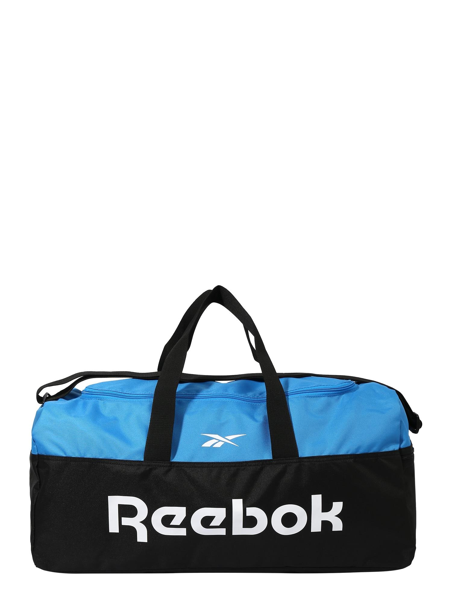 REEBOK Sportovní taška  bílá / světlemodrá / černá
