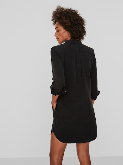 Vero Moda Silla Long Sleeve Black Denim Dress