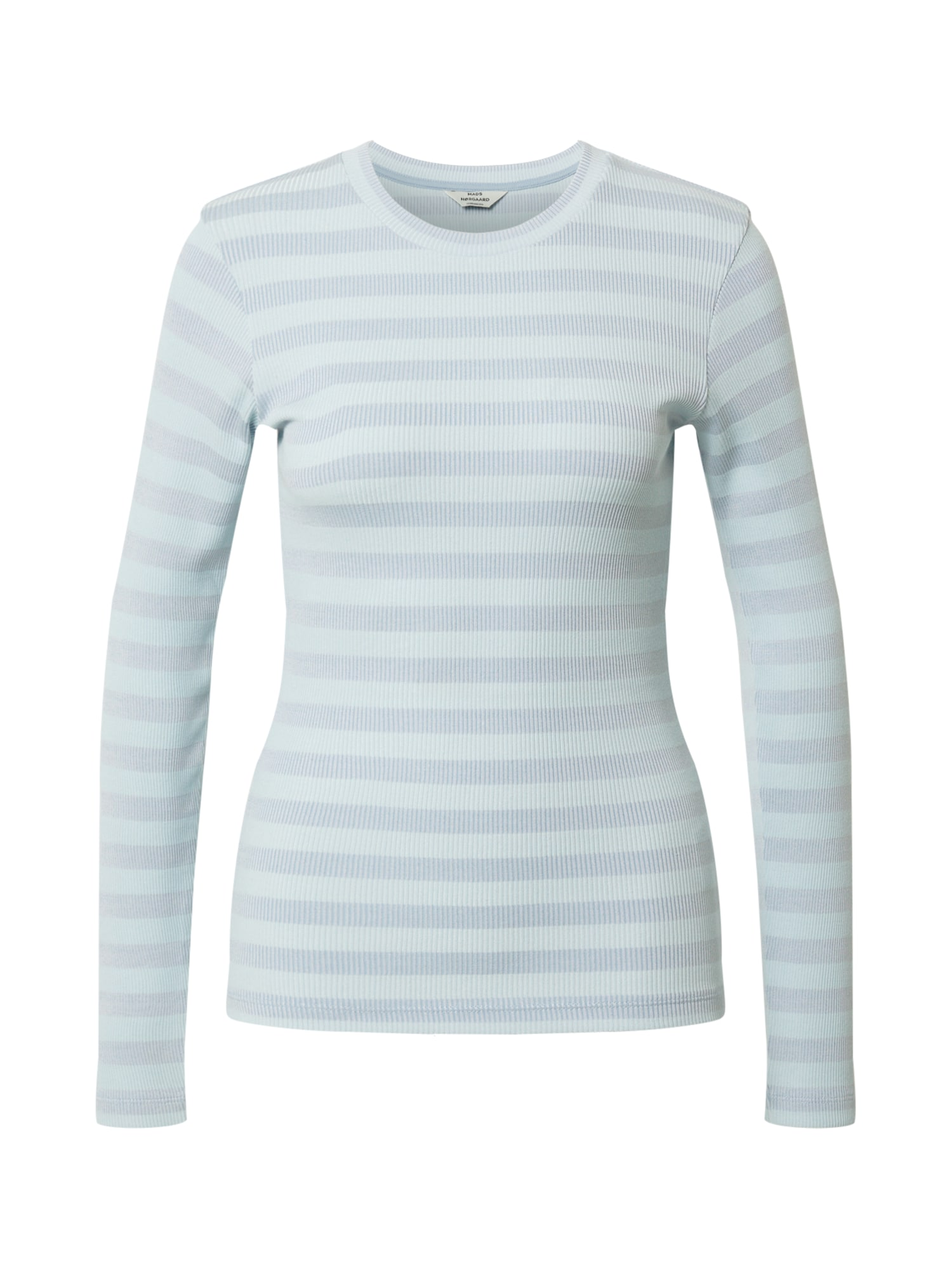 MADS NORGAARD COPENHAGEN Marškinėliai mėlyna dūmų spalva / azuro spalva