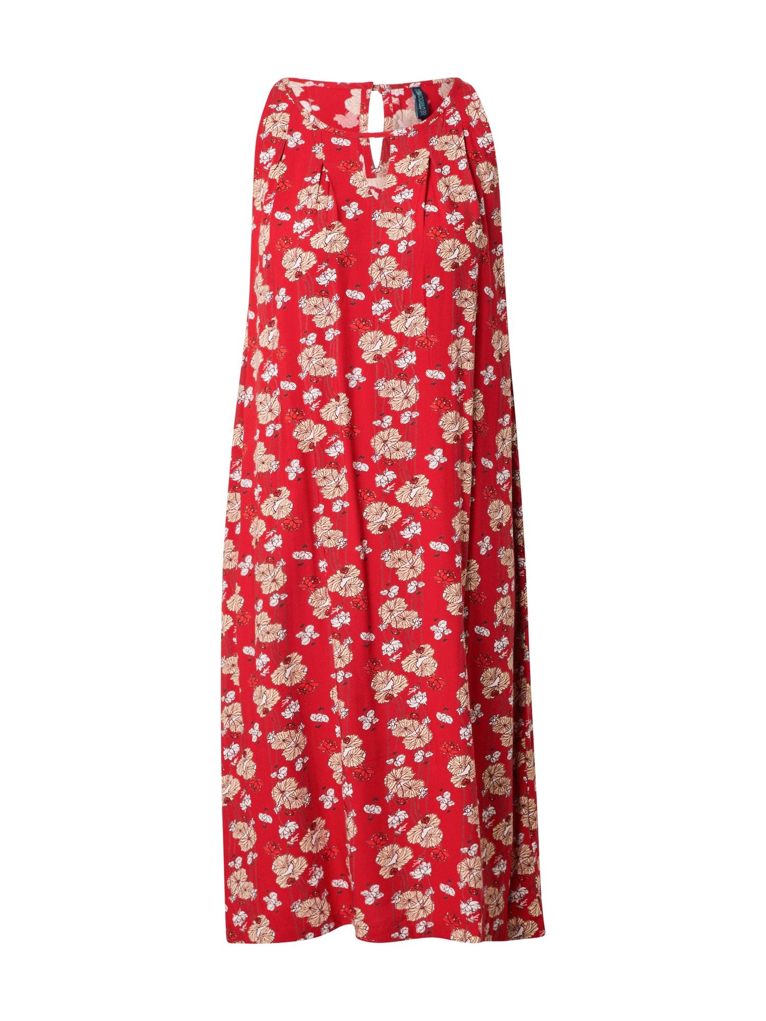 Tranquillo Vasarinė suknelė raudona / kremo / balta / grafito