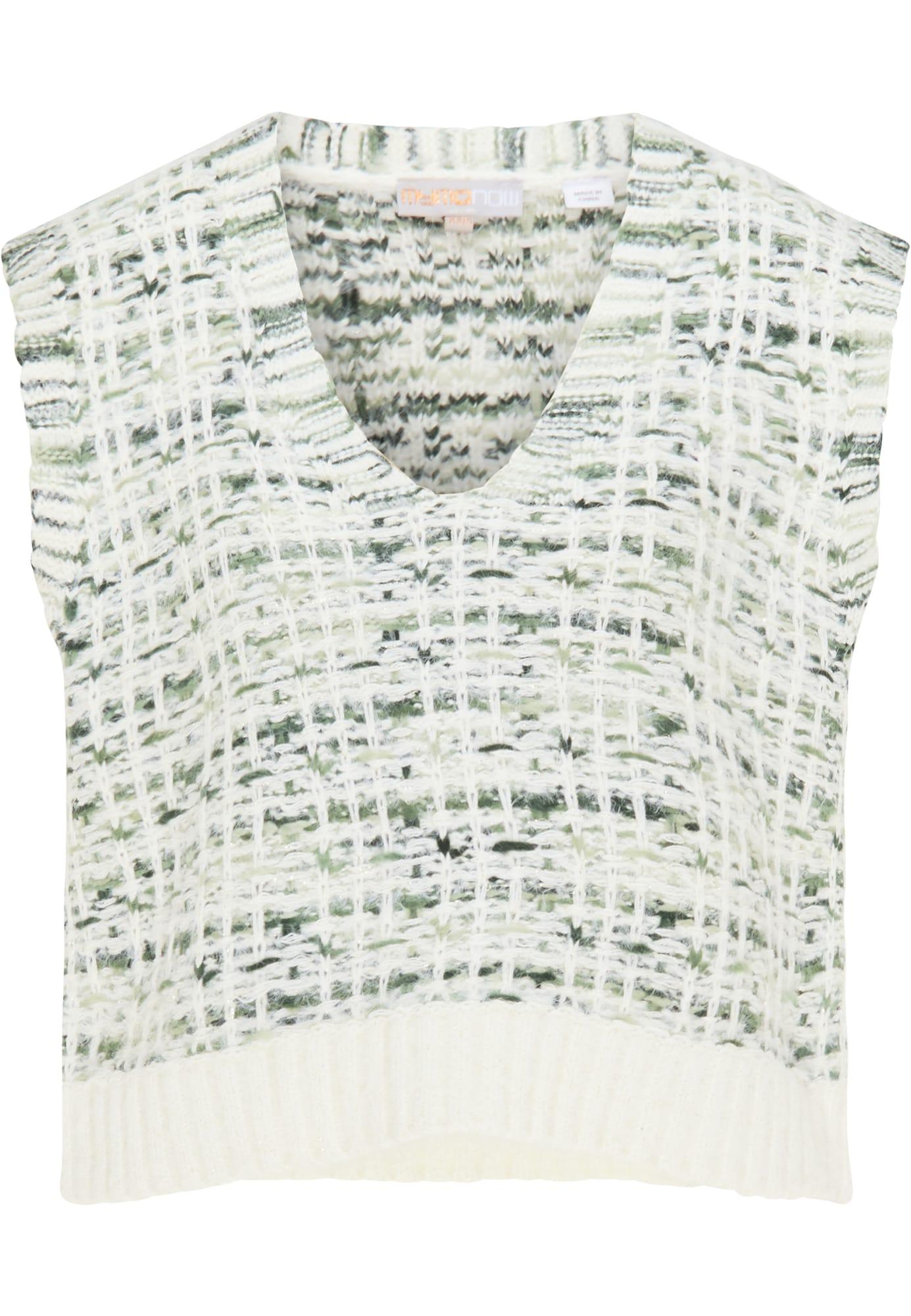 myMo NOW Megztinis žalia / balta