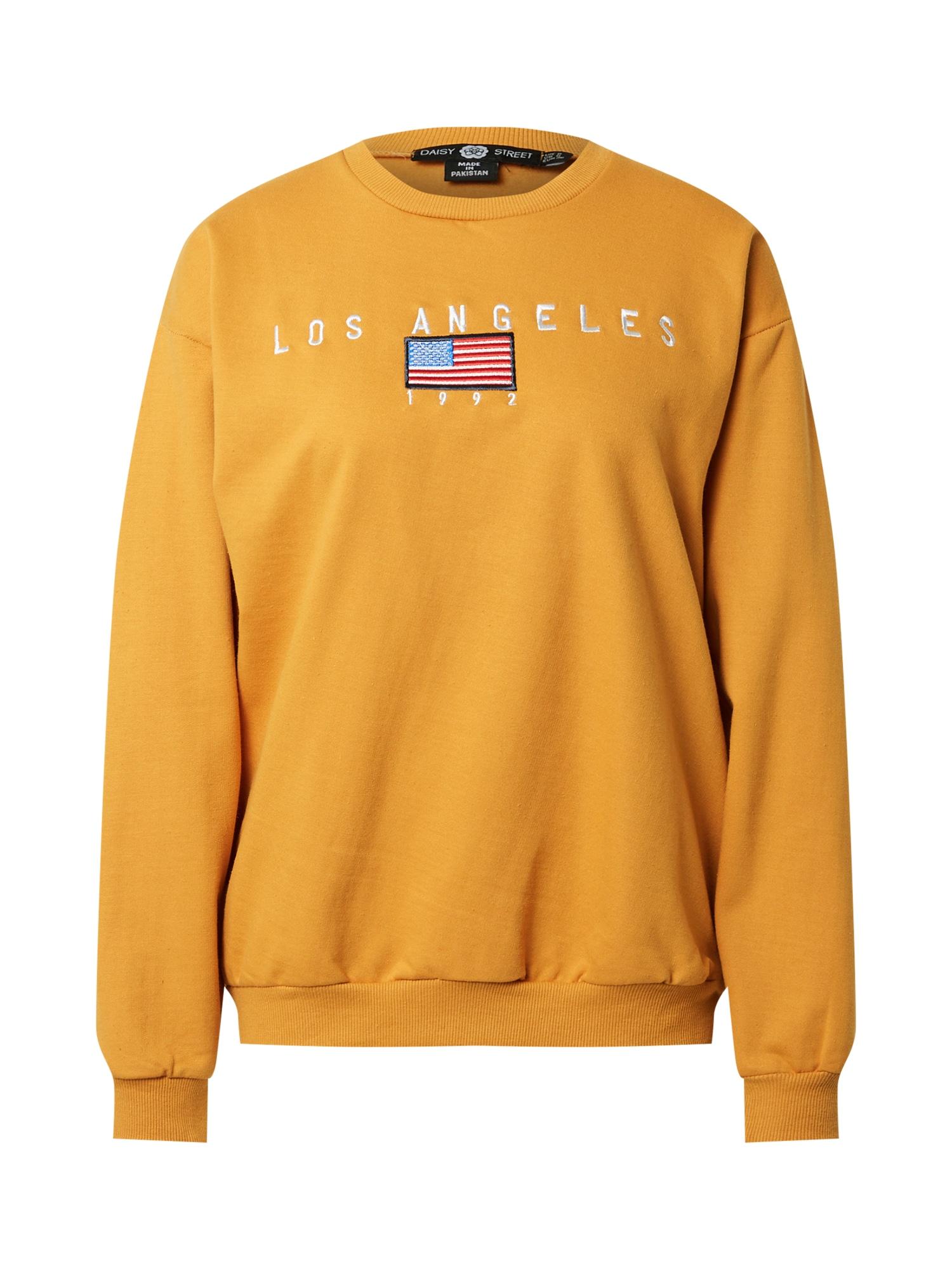 Daisy Street Megztinis be užsegimo oranžinė / balta / mėlyna / raudona