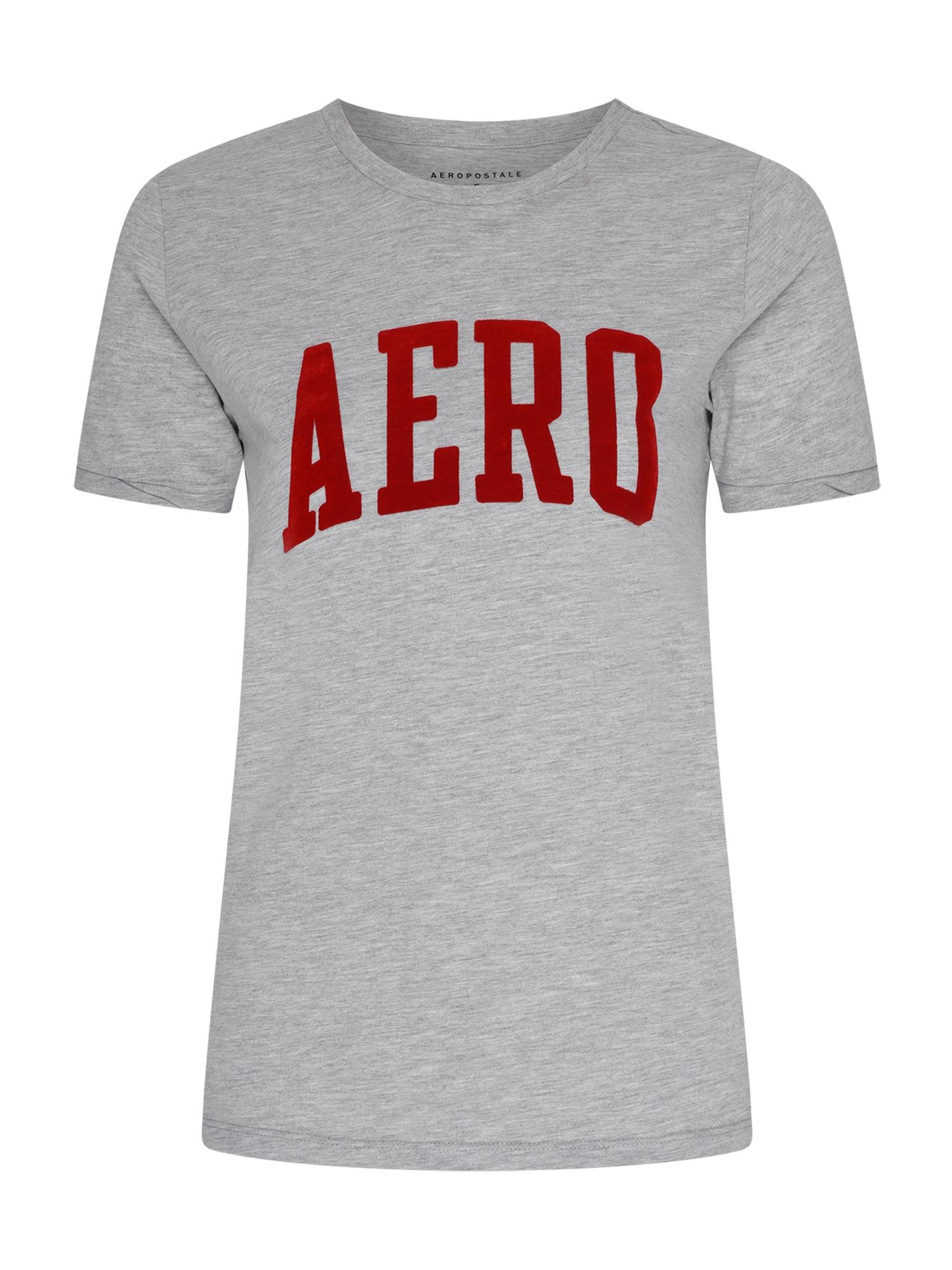 AÈROPOSTALE Marškinėliai raudona / margai pilka