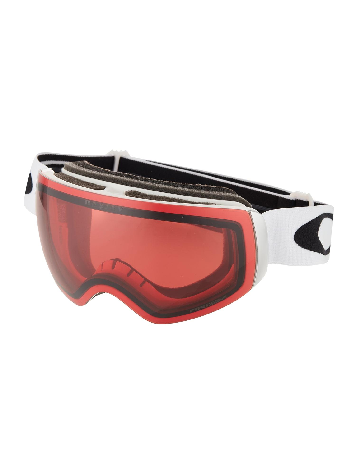 OAKLEY Sportiniai akiniai 'Flight Deck' balta / raudona / juoda