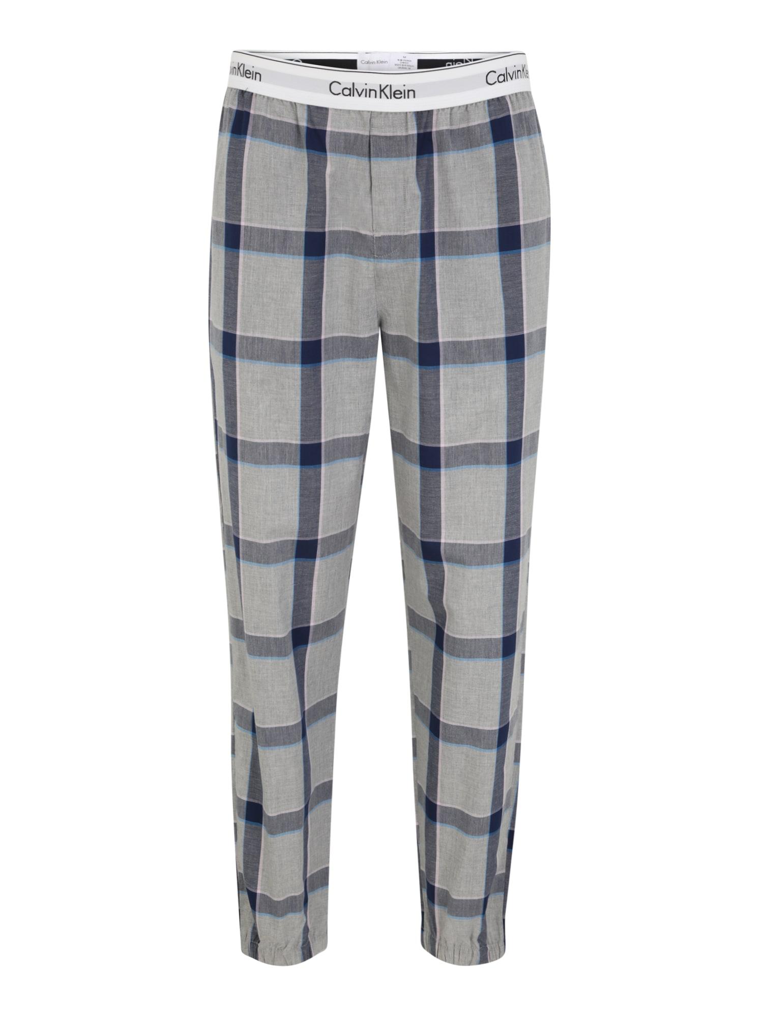 Calvin Klein Underwear Pyžamové kalhoty  šedá / tmavě modrá / růžová / bílá