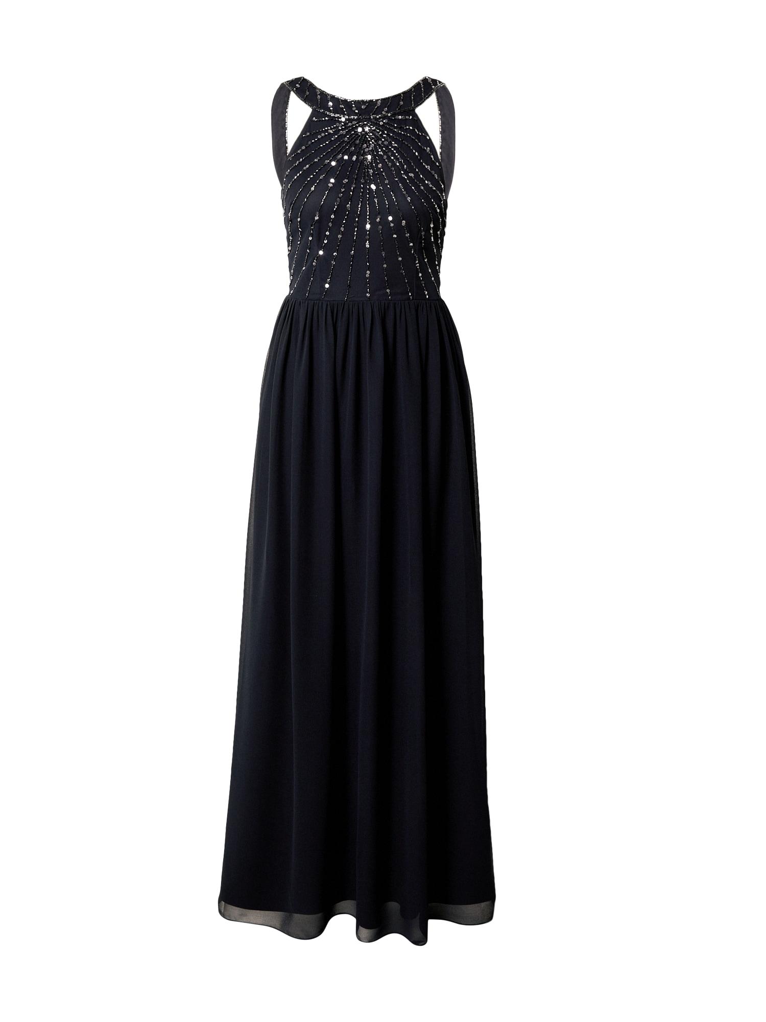 Hailey Logan Vakarinė suknelė ultramarino mėlyna (skaidri) / sidabro pilka