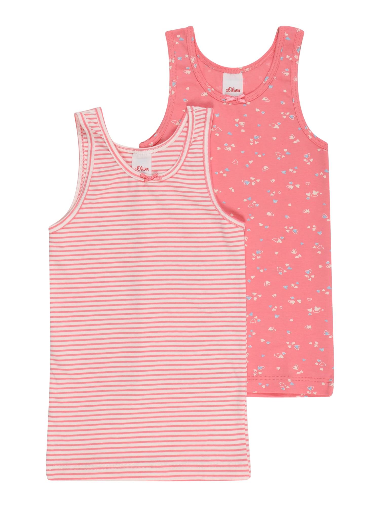 s.Oliver Apatiniai marškinėliai rožinė / šviesiai mėlyna