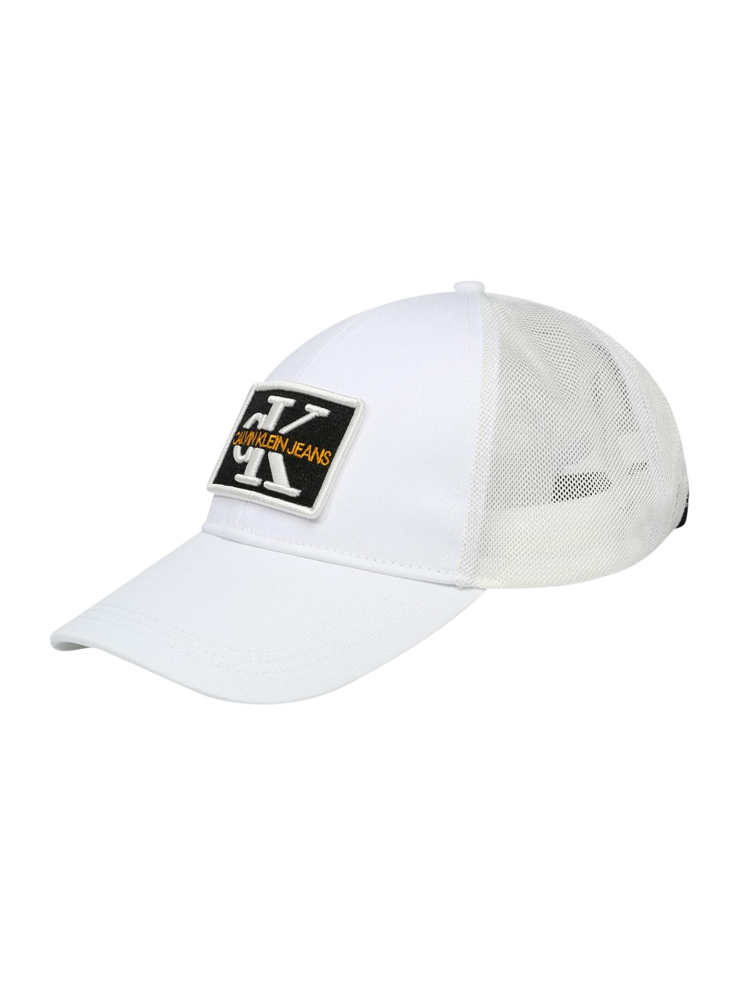 Calvin Klein Jeans Kepurė balta / juoda / tamsiai geltona