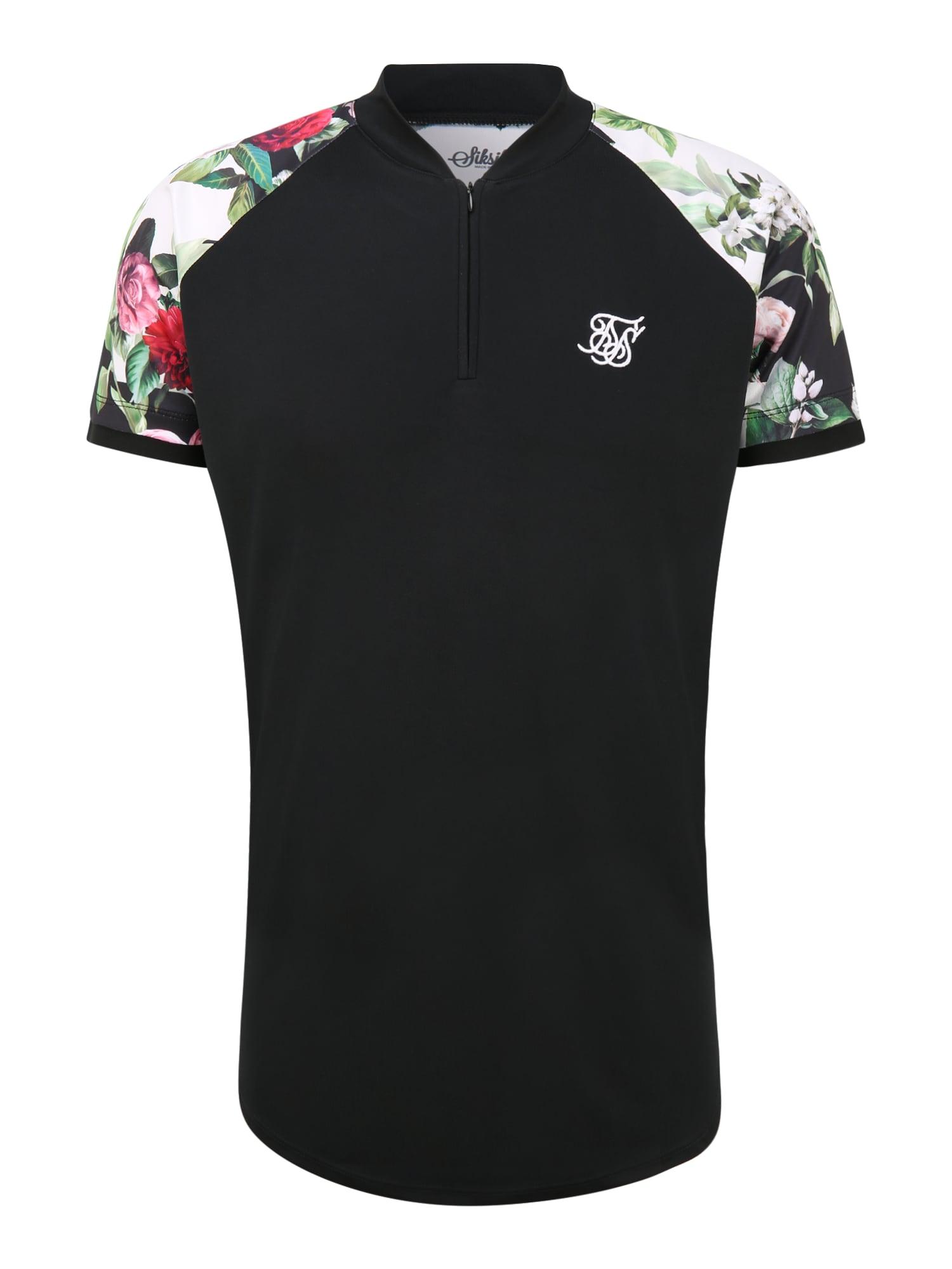 SikSilk Tričko  černá