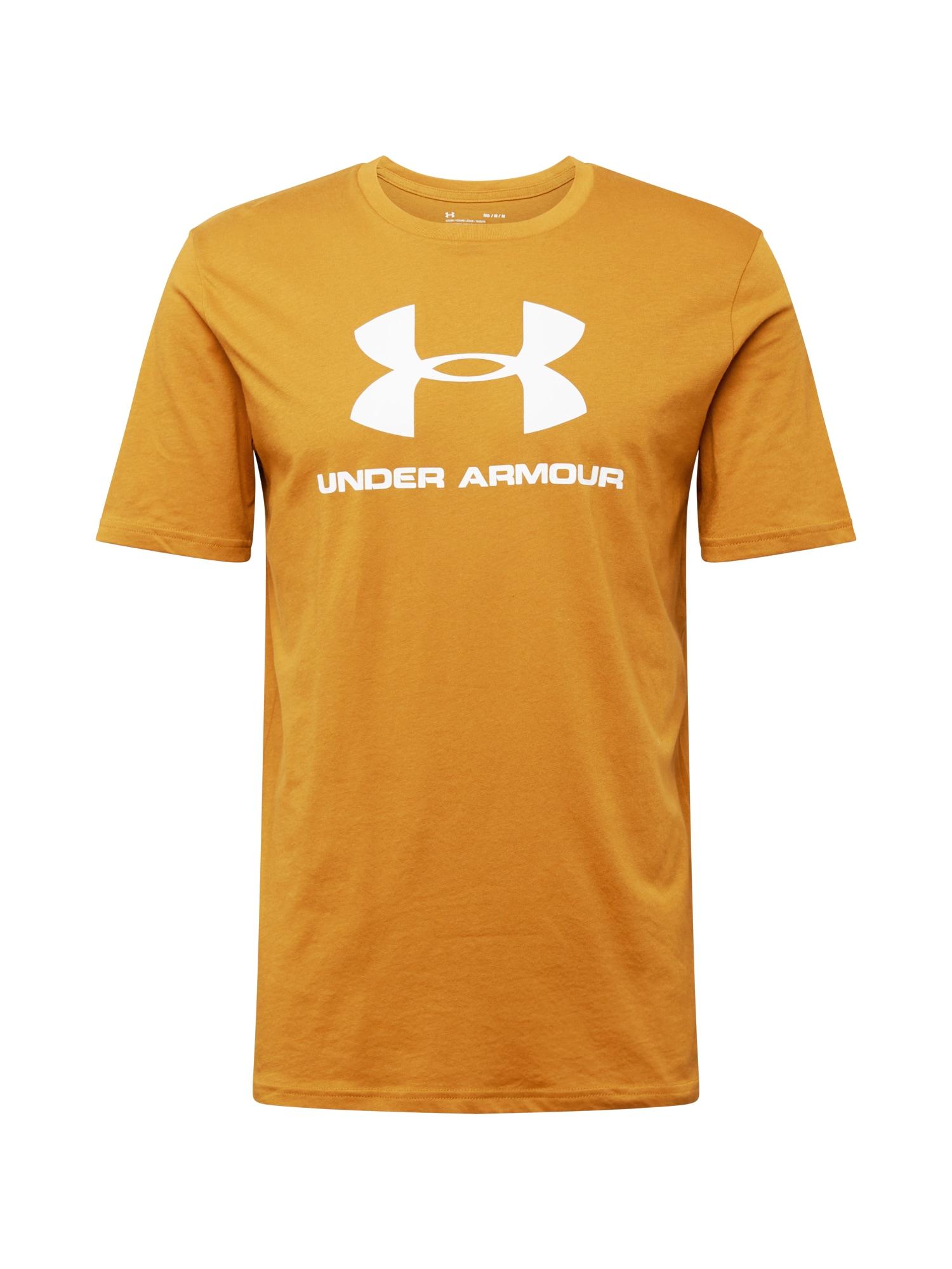 UNDER ARMOUR Funkční tričko  tmavě žlutá / bílá