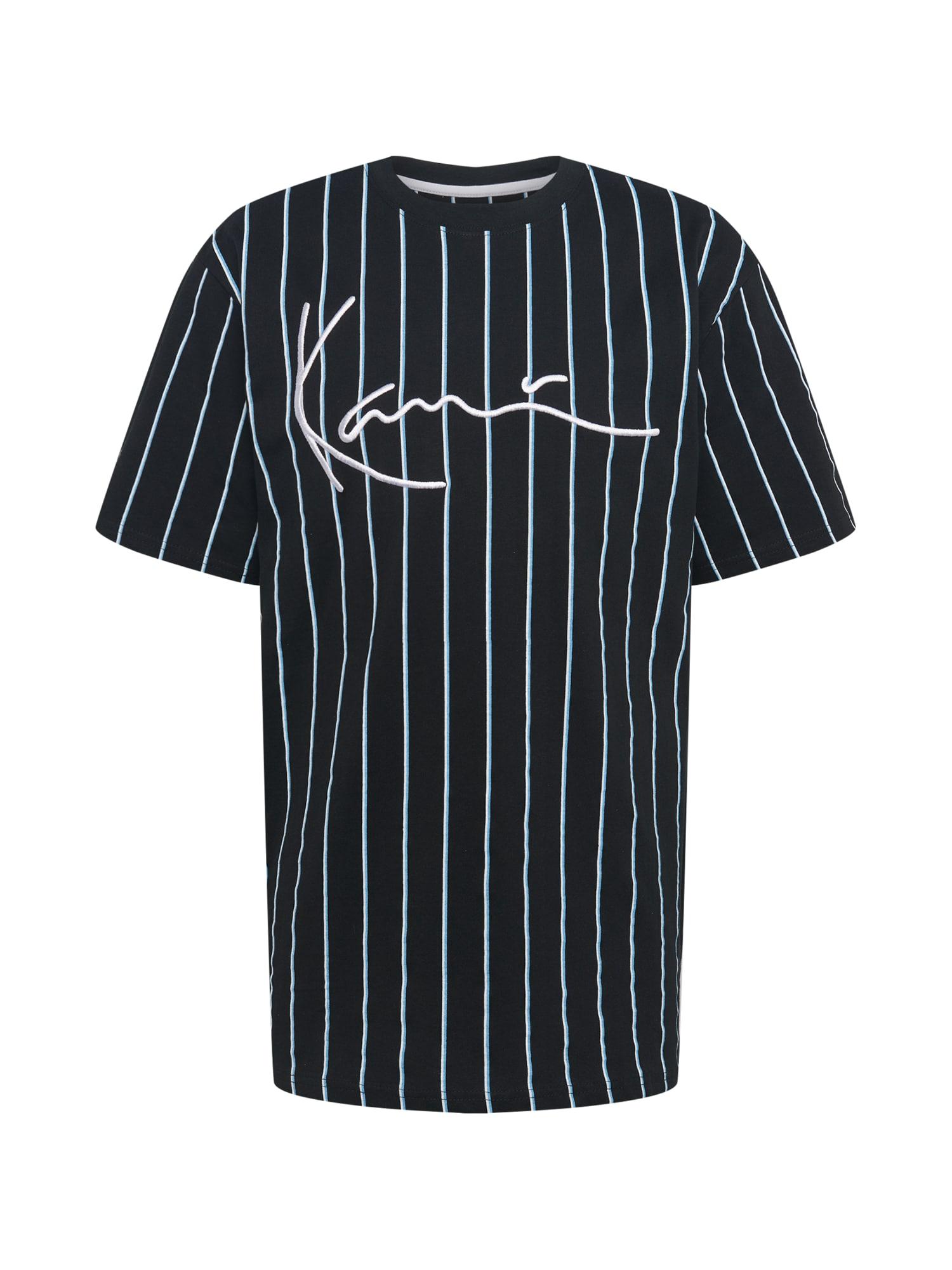 Karl Kani Marškinėliai balta / juoda / šviesiai mėlyna