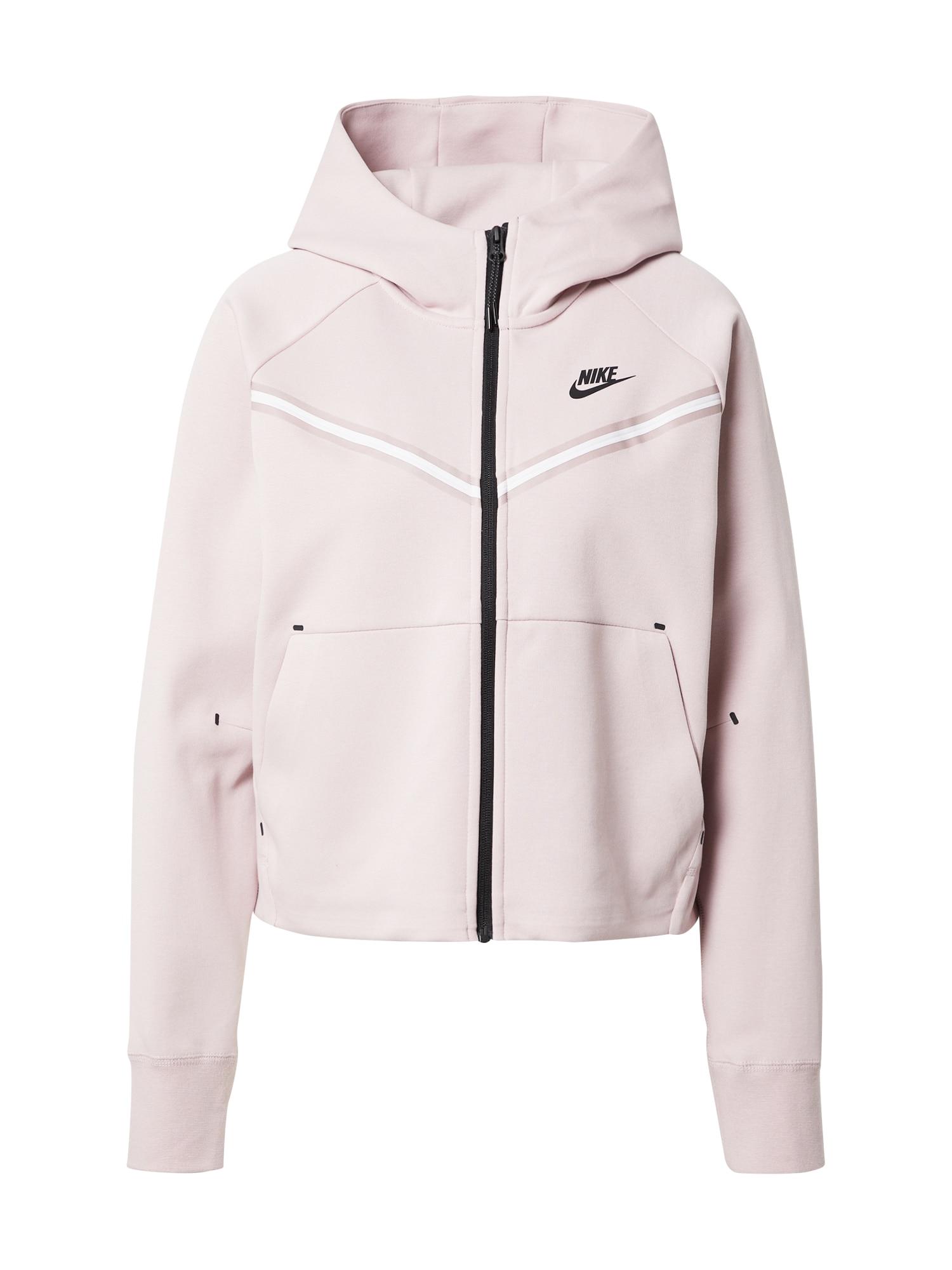 Nike Sportswear Džemperis balta / juoda / pastelinė rožinė