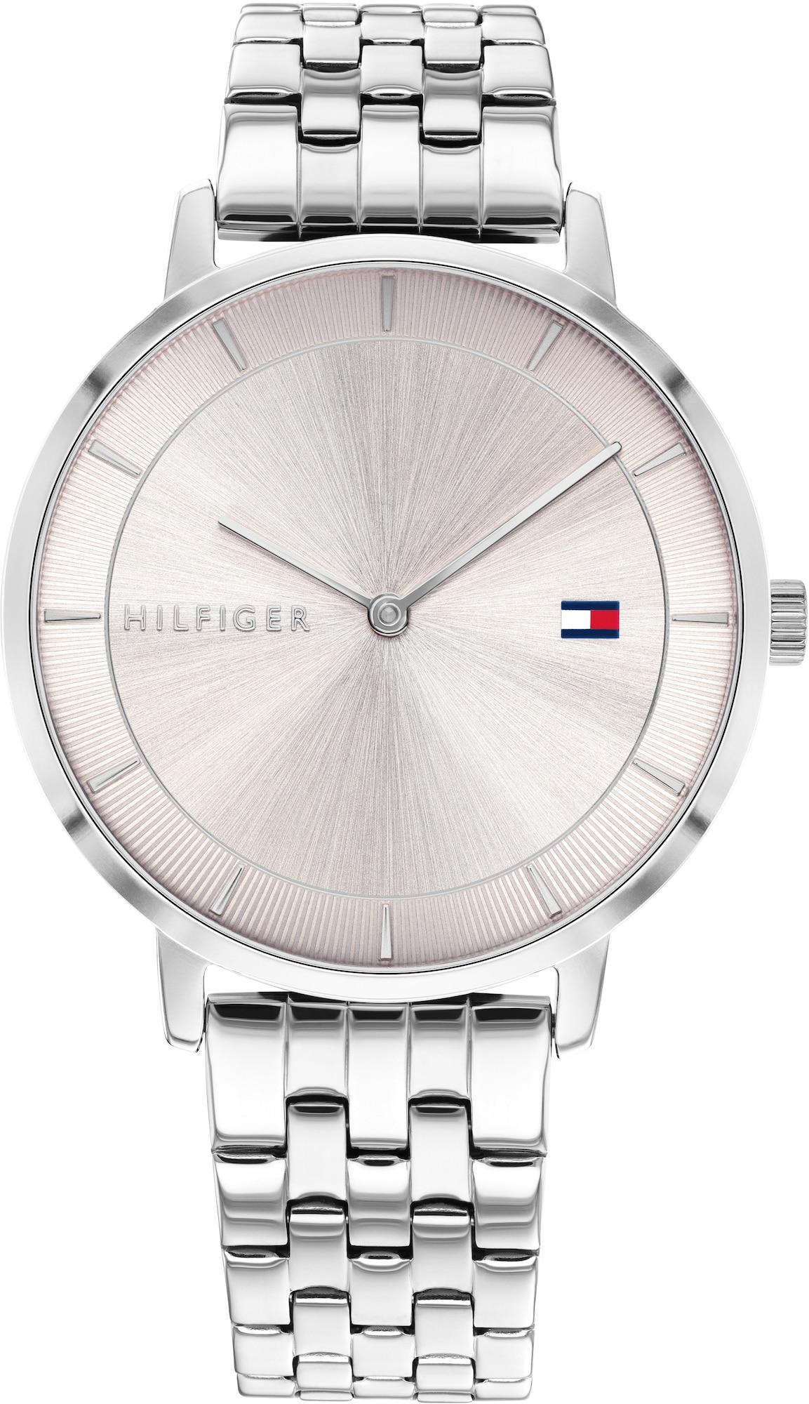 TOMMY HILFIGER Analoginis (įprasto dizaino) laikrodis sidabrinė / pastelinė rožinė