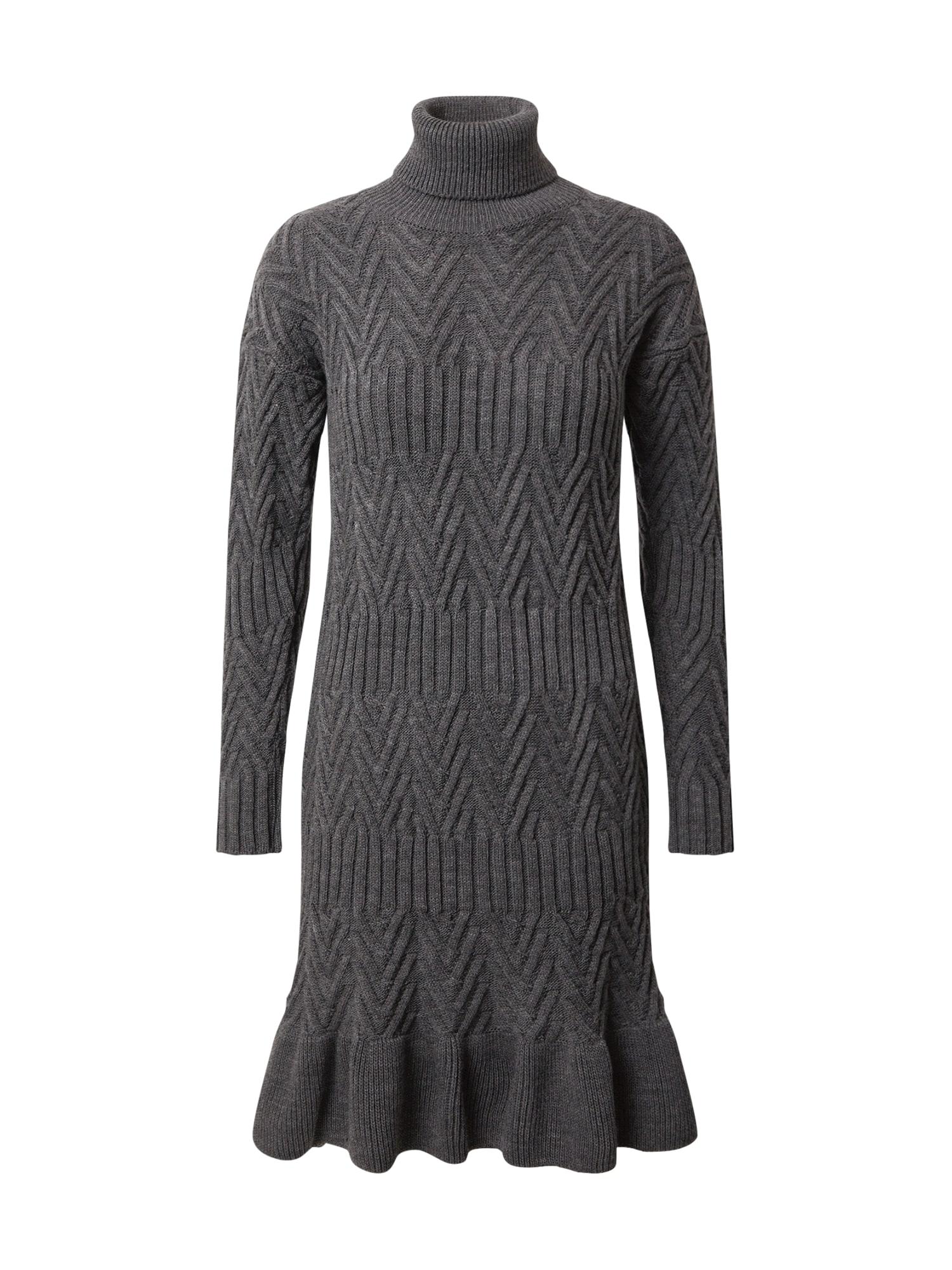 Trendyol Megzta suknelė antracito