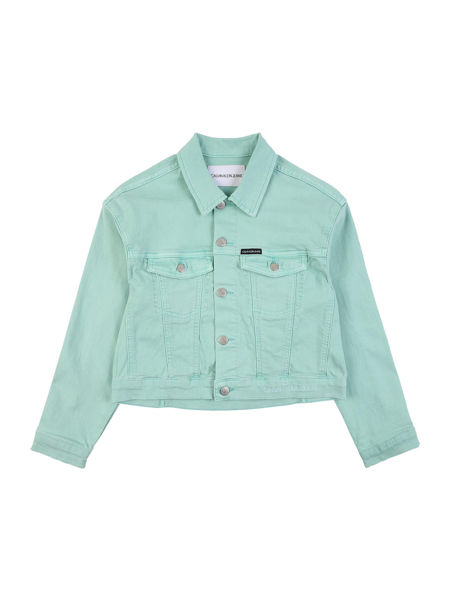 Calvin Klein Jeans Demisezoninė striukė 'GD STR' mėtų spalva