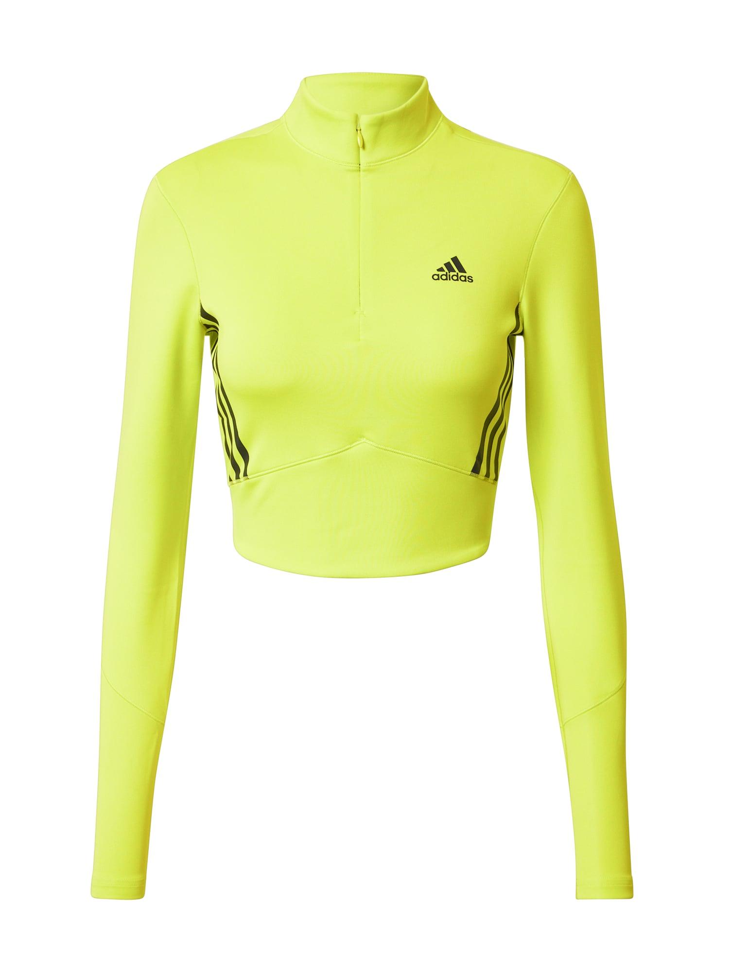 ADIDAS PERFORMANCE Sportiniai marškinėliai juoda / geltona