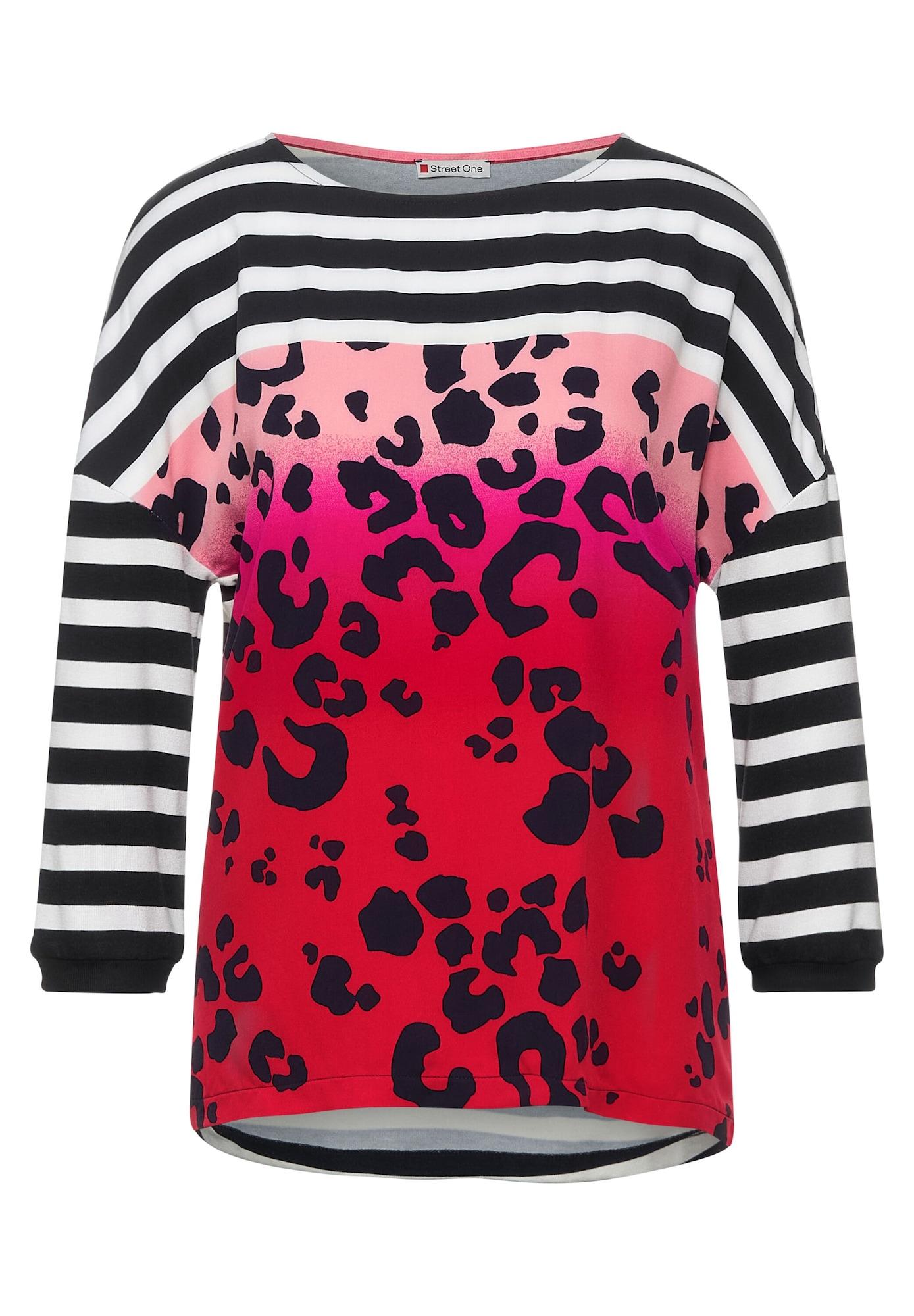 STREET ONE Tričko  červená / pink / černá / bílá
