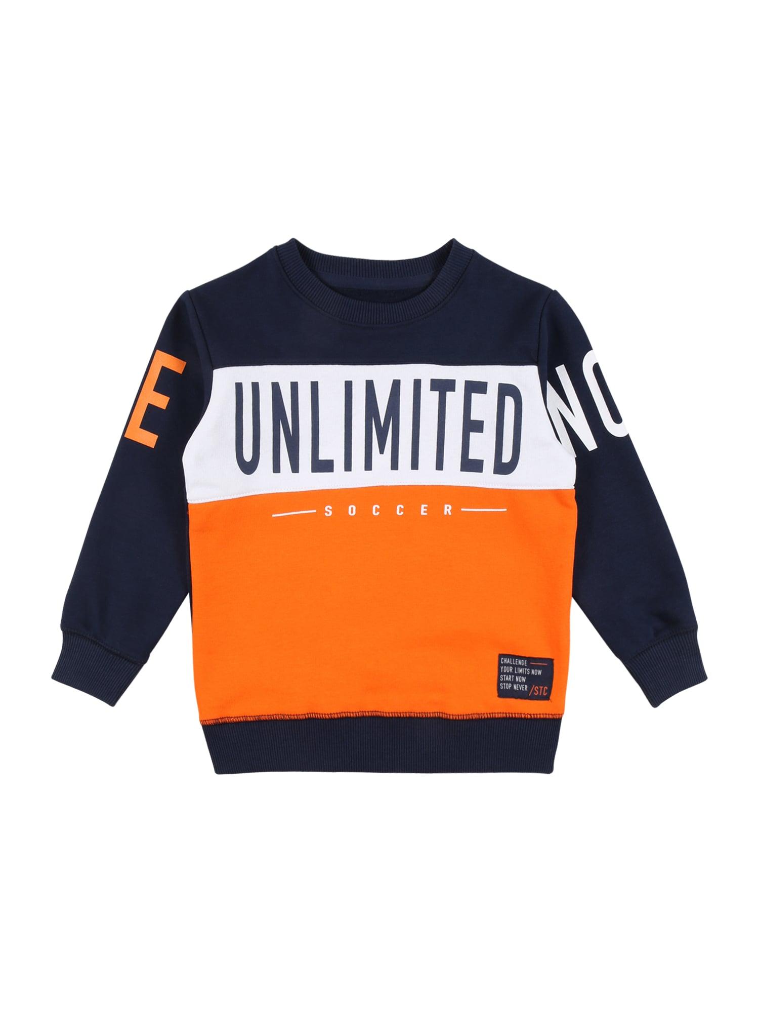 STACCATO Megztinis be užsegimo oranžinė / tamsiai mėlyna jūros spalva / balta