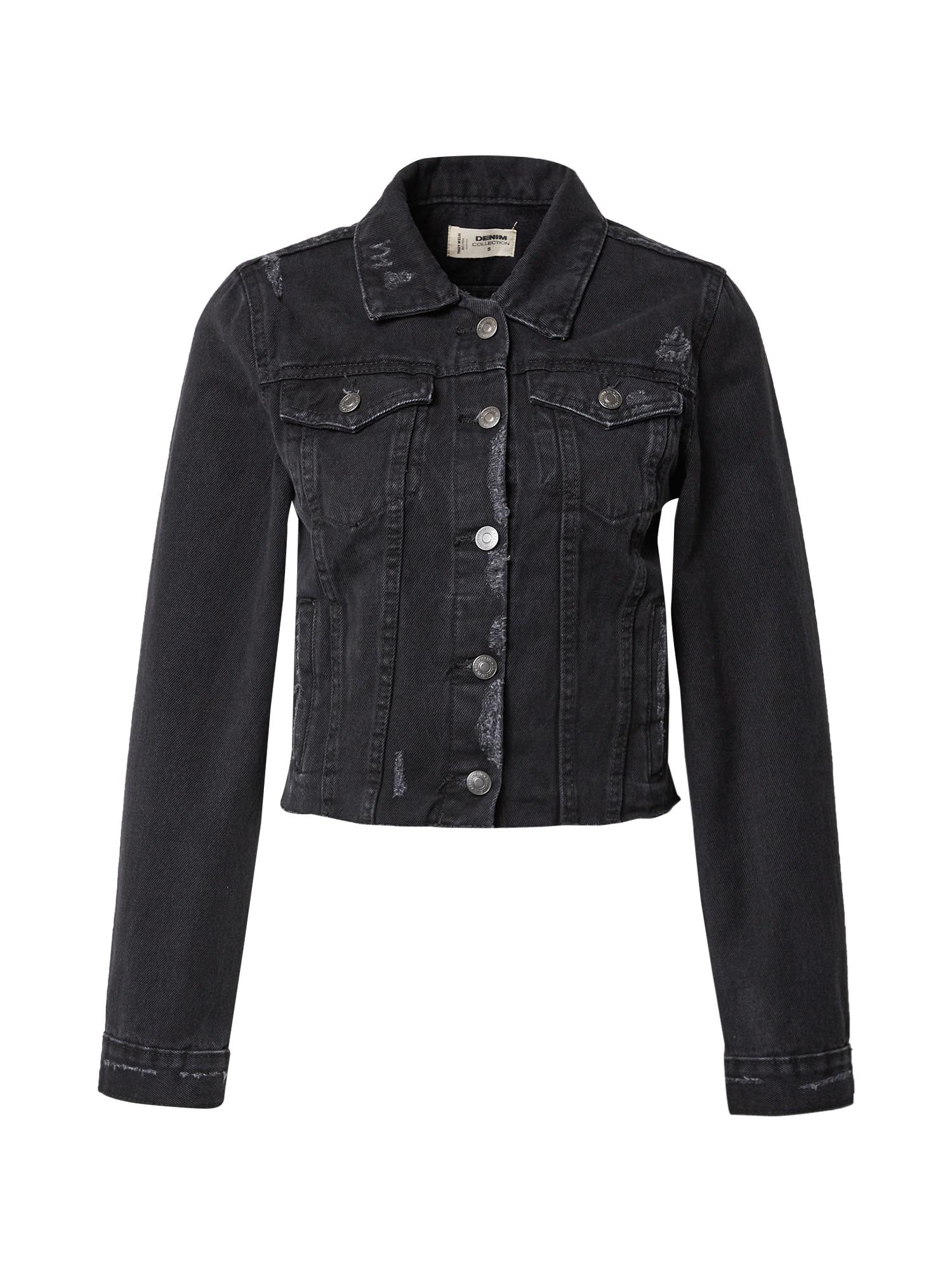 Tally Weijl Demisezoninė striukė juodo džinso spalva
