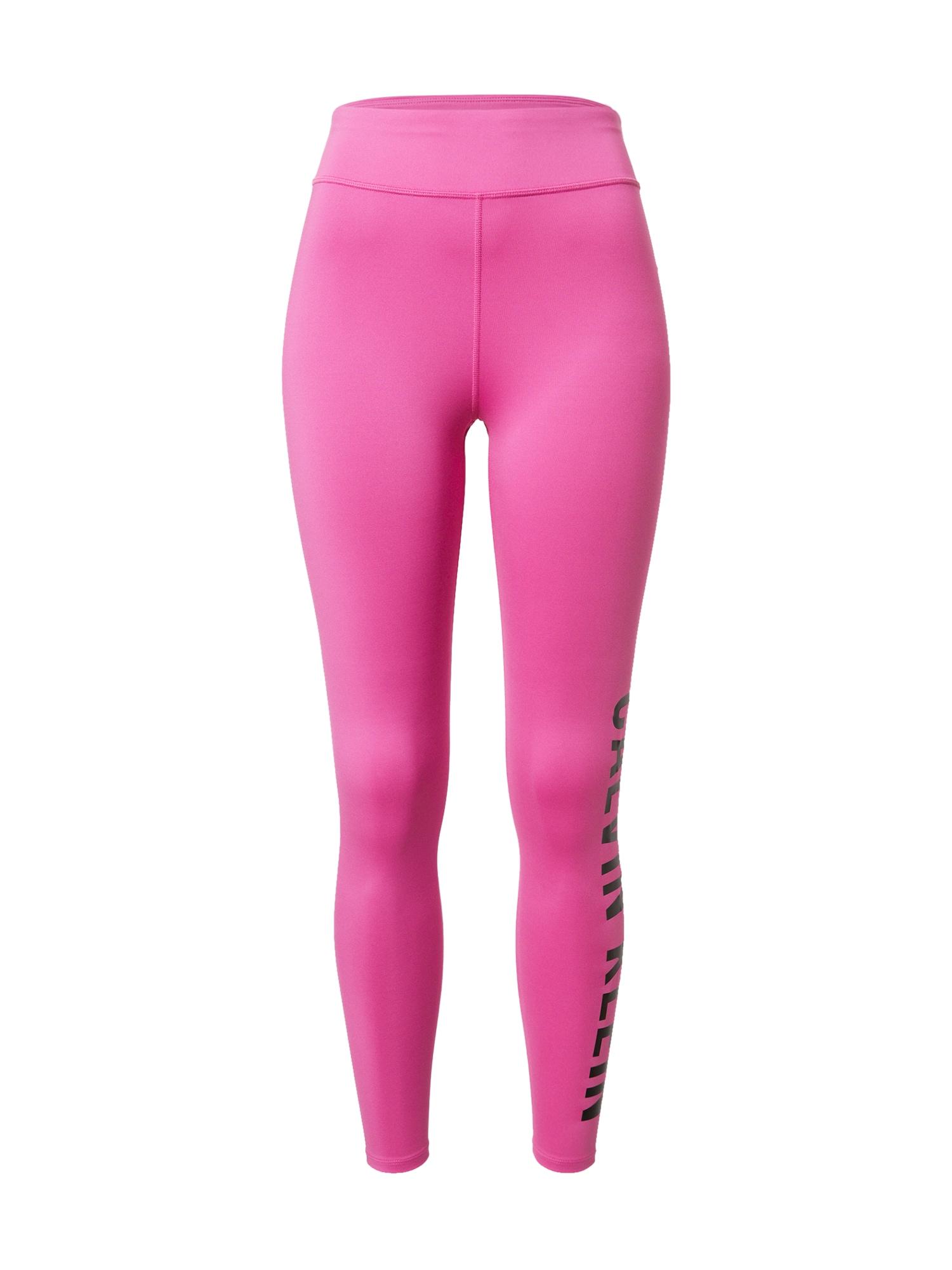 Calvin Klein Performance Sportinės kelnės rožinė / juoda
