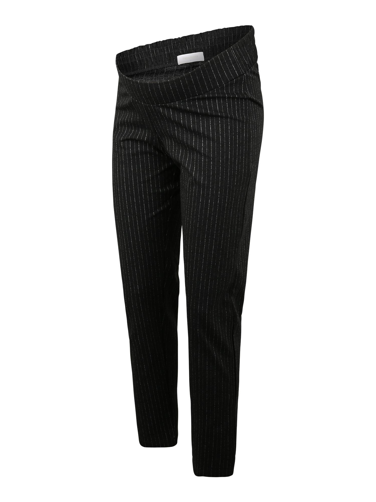 MAMALICIOUS Kelnės tamsiai pilka / sidabrinė