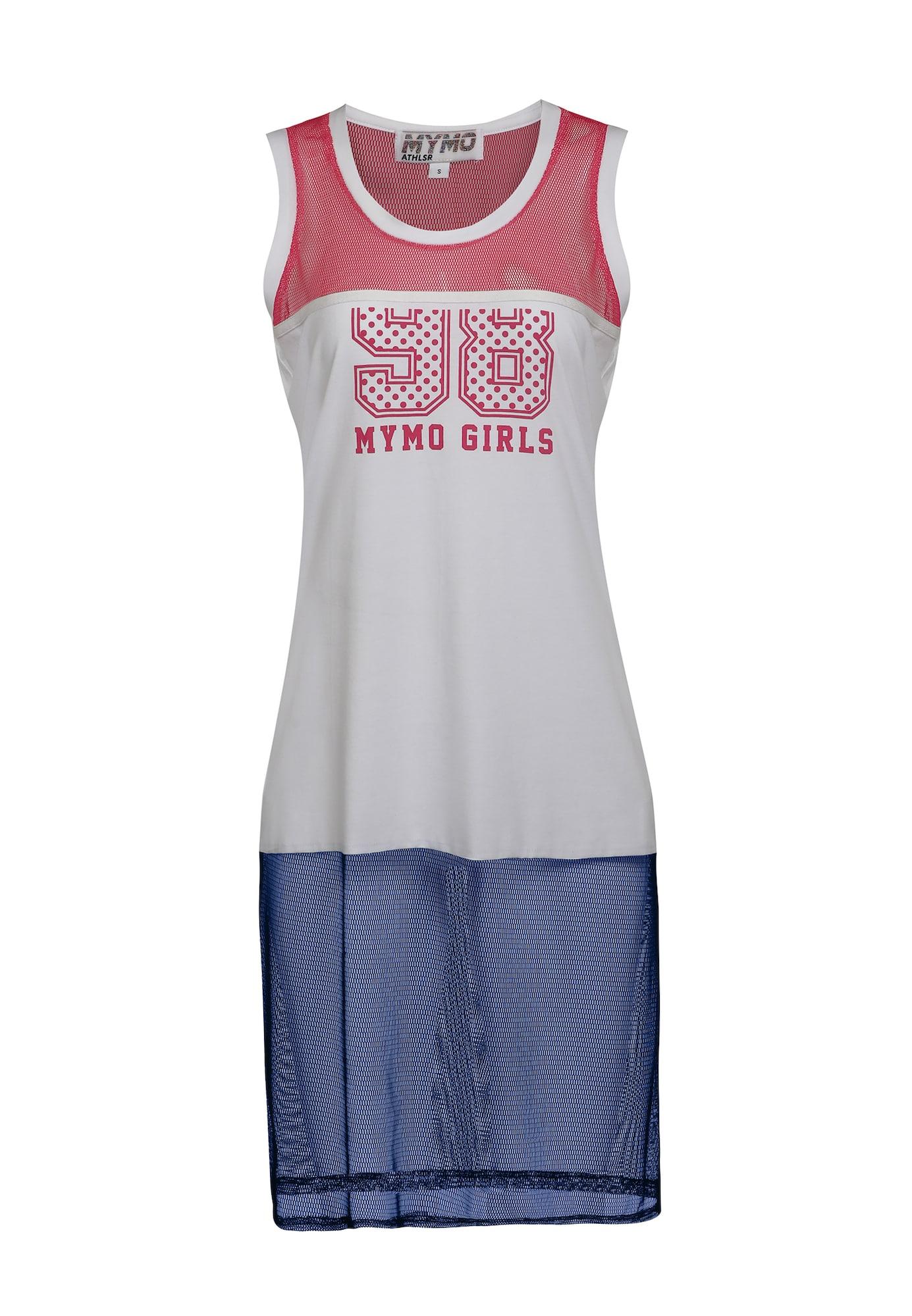 myMo ATHLSR Sportiniai marškinėliai be rankovių tamsiai mėlyna / tamsiai rožinė / balta