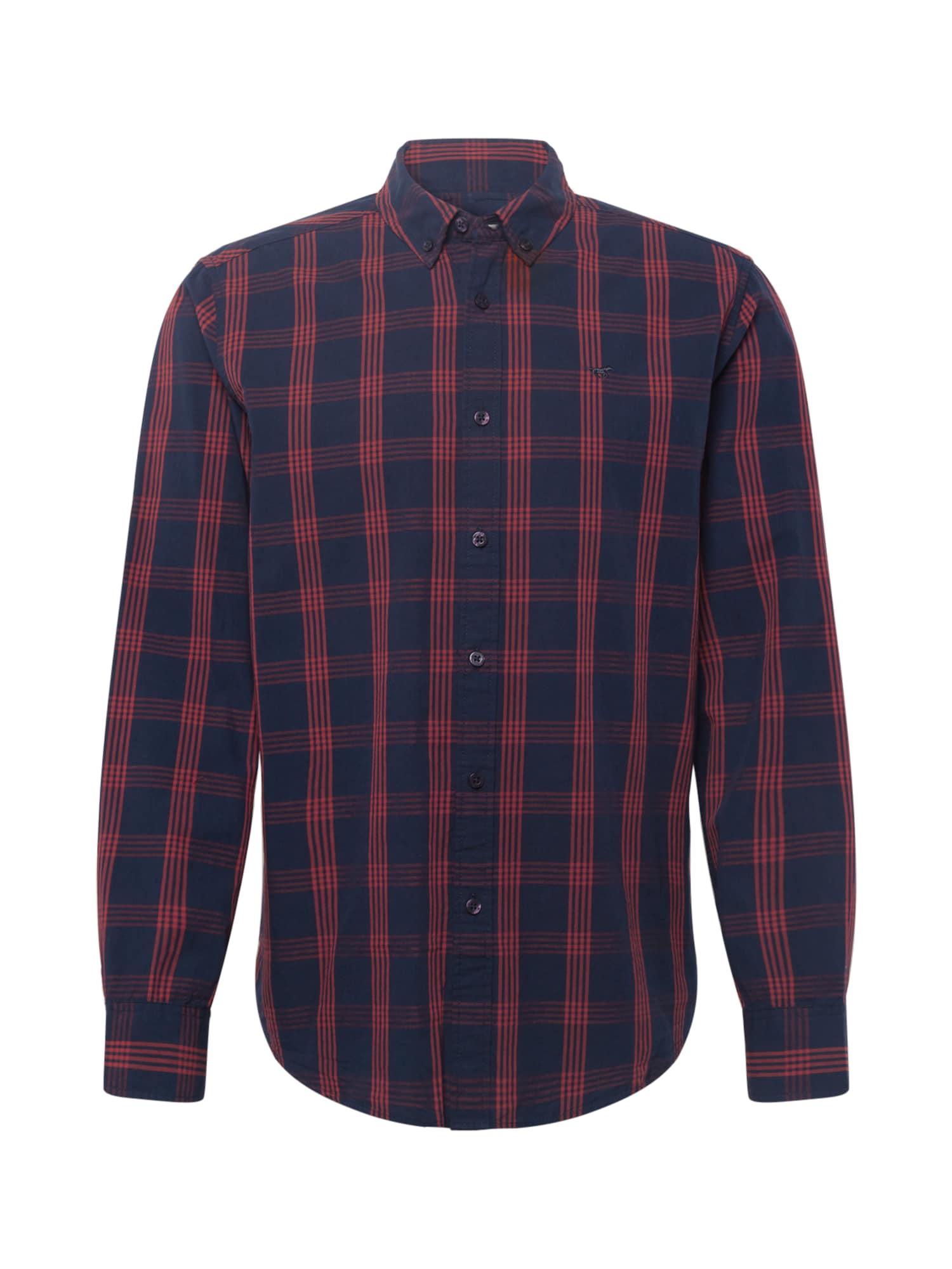 MUSTANG Košile 'Clemens'  námořnická modř / červená