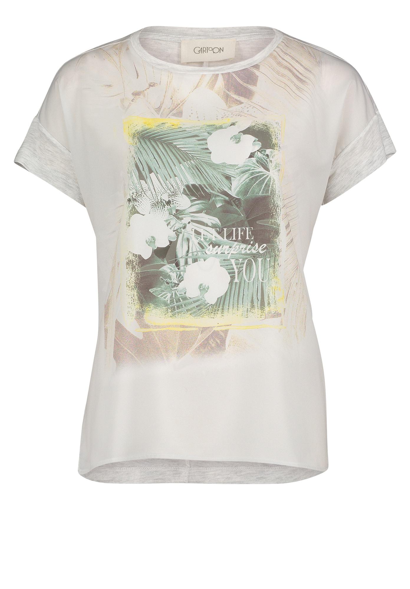 Cartoon Marškinėliai kremo / pastelinė žalia / gelsvai pilka spalva / natūrali balta / šviesiai geltona