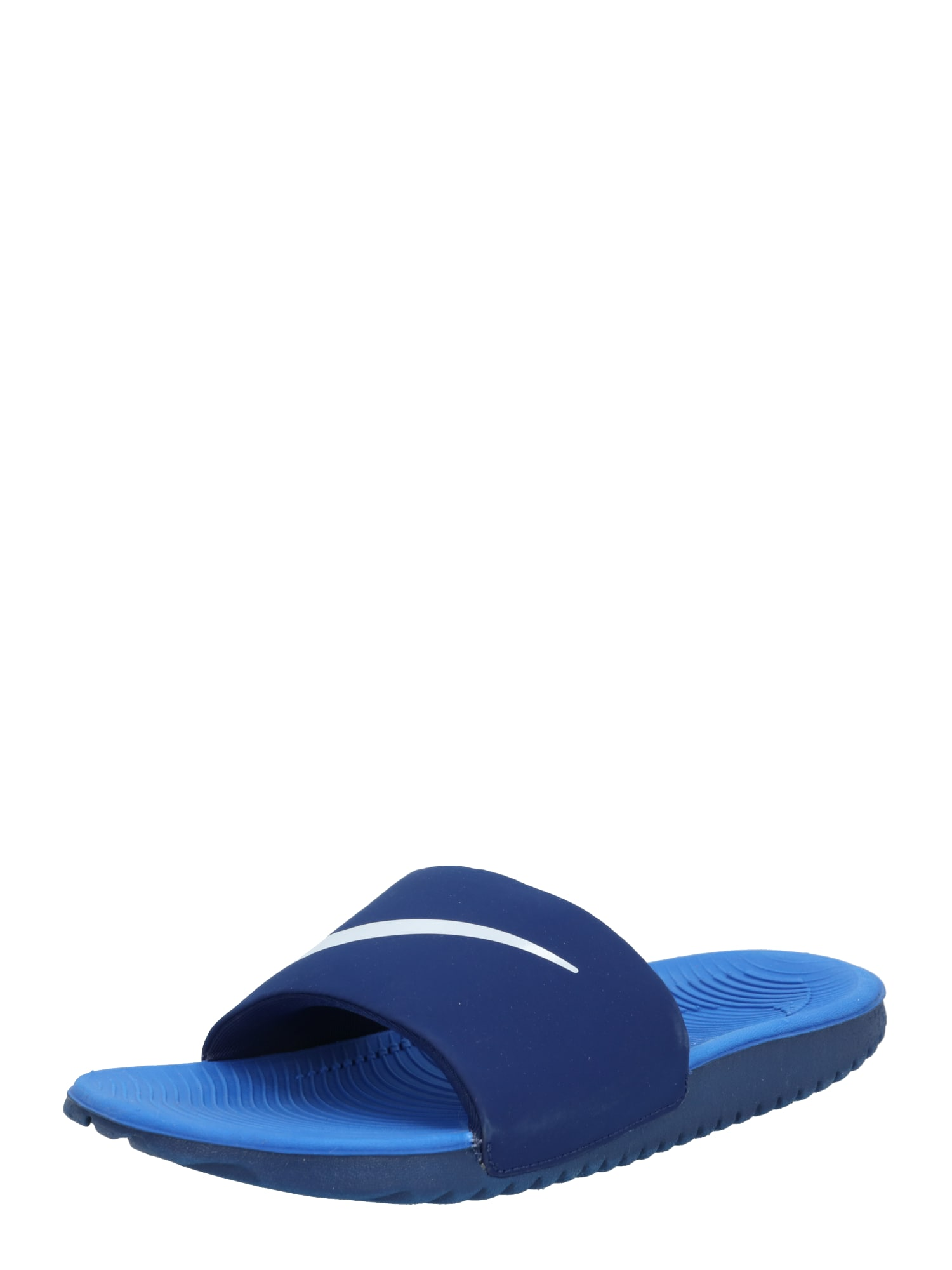 NIKE Sandalai / maudymosi batai 'KAWA' tamsiai mėlyna / balta