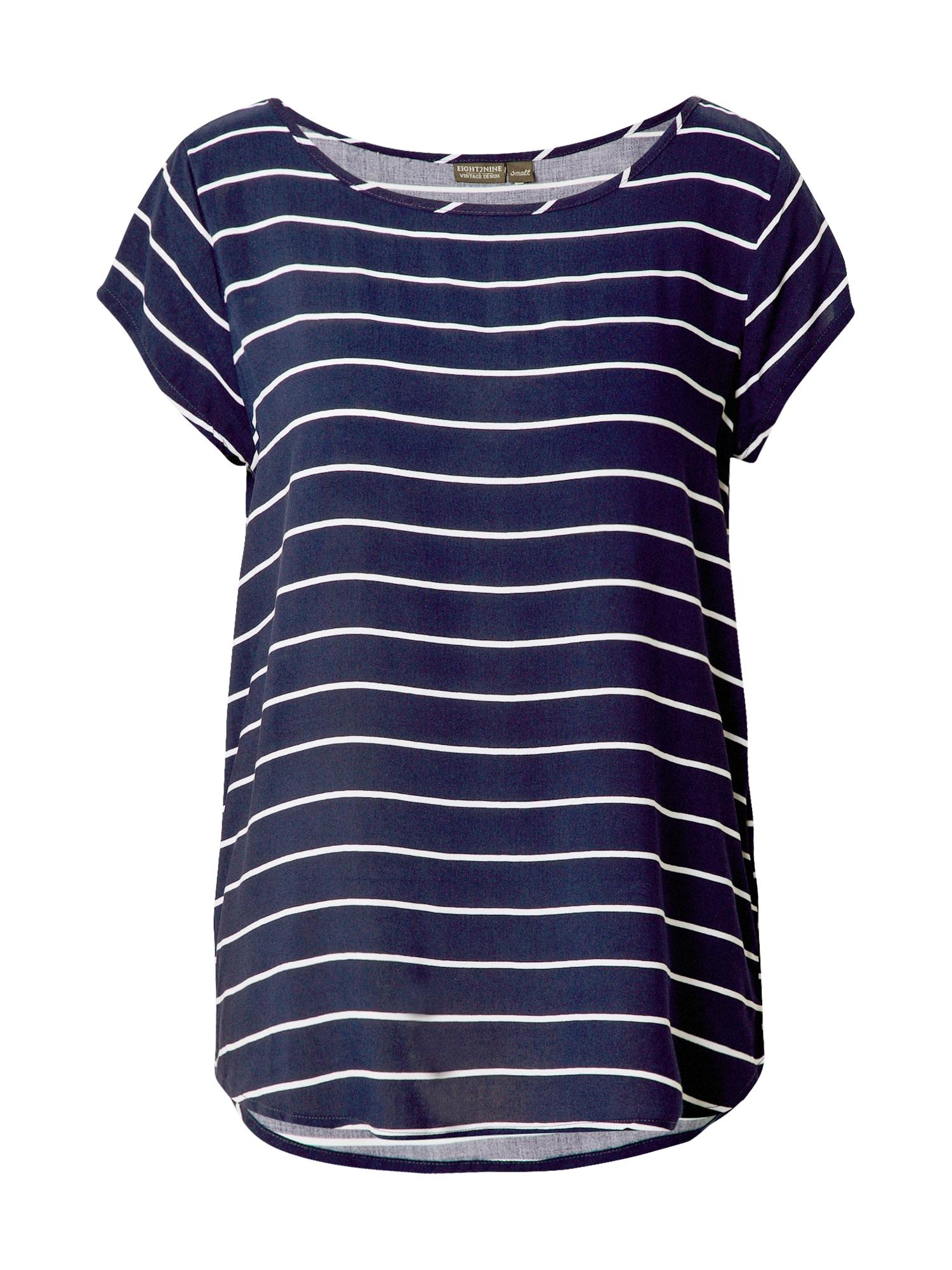 Eight2Nine Marškinėliai balta / tamsiai mėlyna
