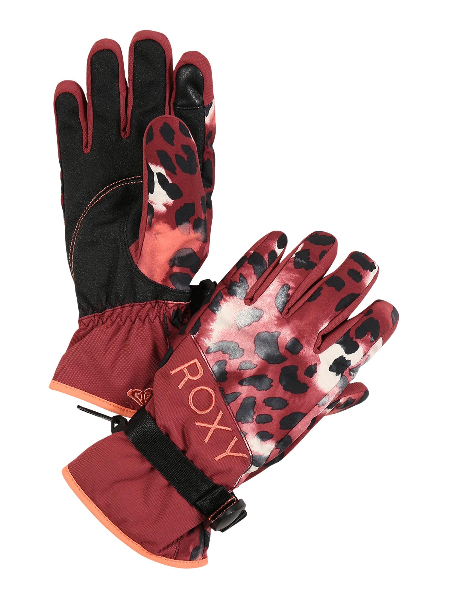 ROXY Sportinės pirštinės 'Jetty' raudona / juoda