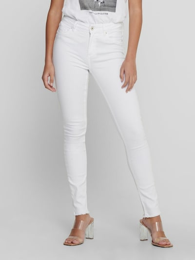 Only Blush Life Mid Rise Skinny Jeans mit rohem Saum