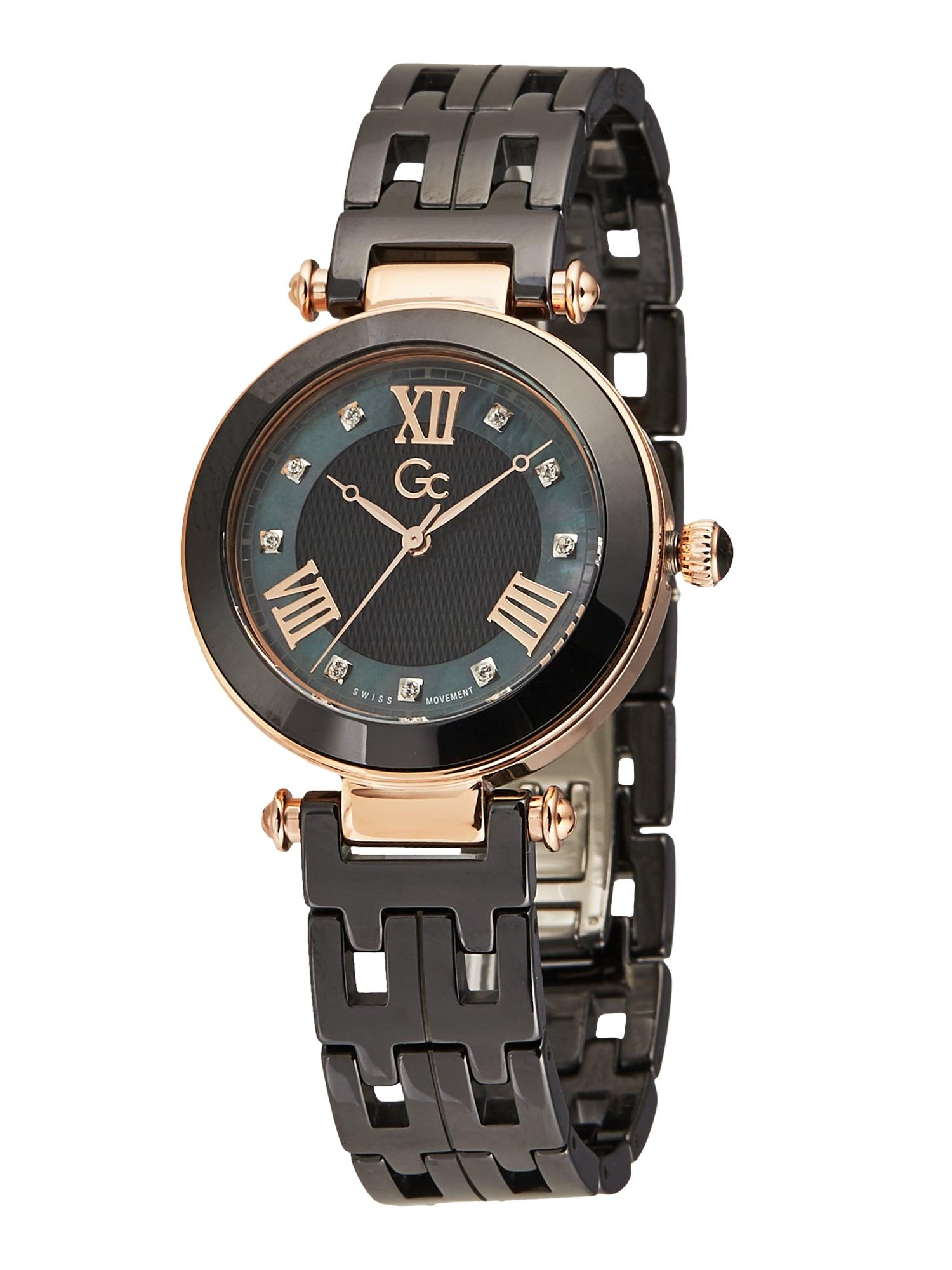 Gc Analoginis (įprasto dizaino) laikrodis 'Prime Chic' rožinio aukso spalva / juoda
