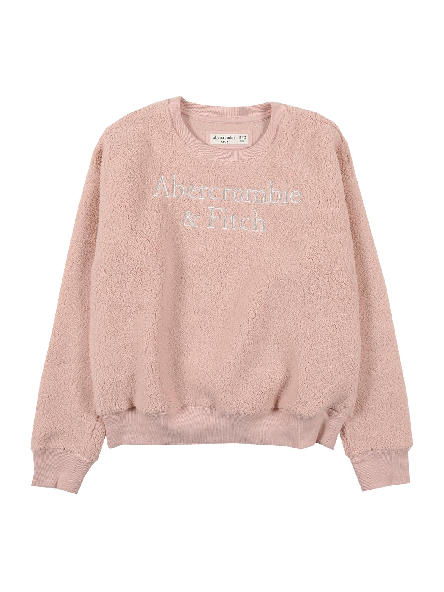 Abercrombie & Fitch Megztinis tamsiai rožinė / sidabro pilka
