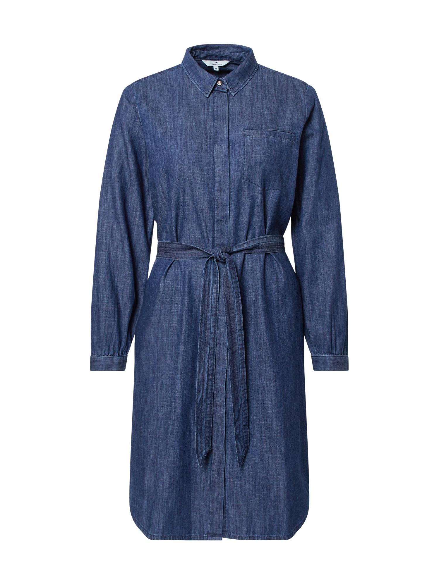 TOM TAILOR Palaidinės tipo suknelė tamsiai (džinso) mėlyna