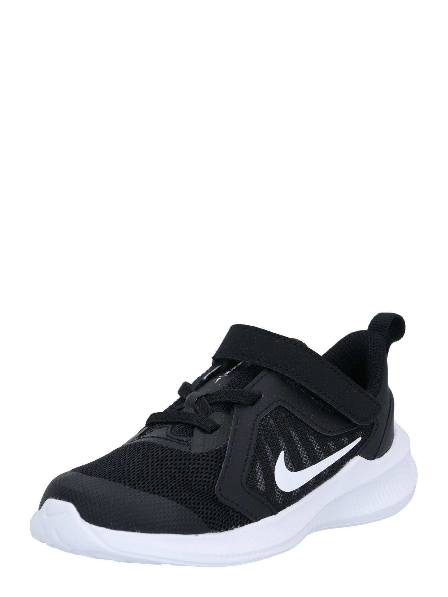 NIKE Sportiniai batai 'Downshifter 10' juoda / balta